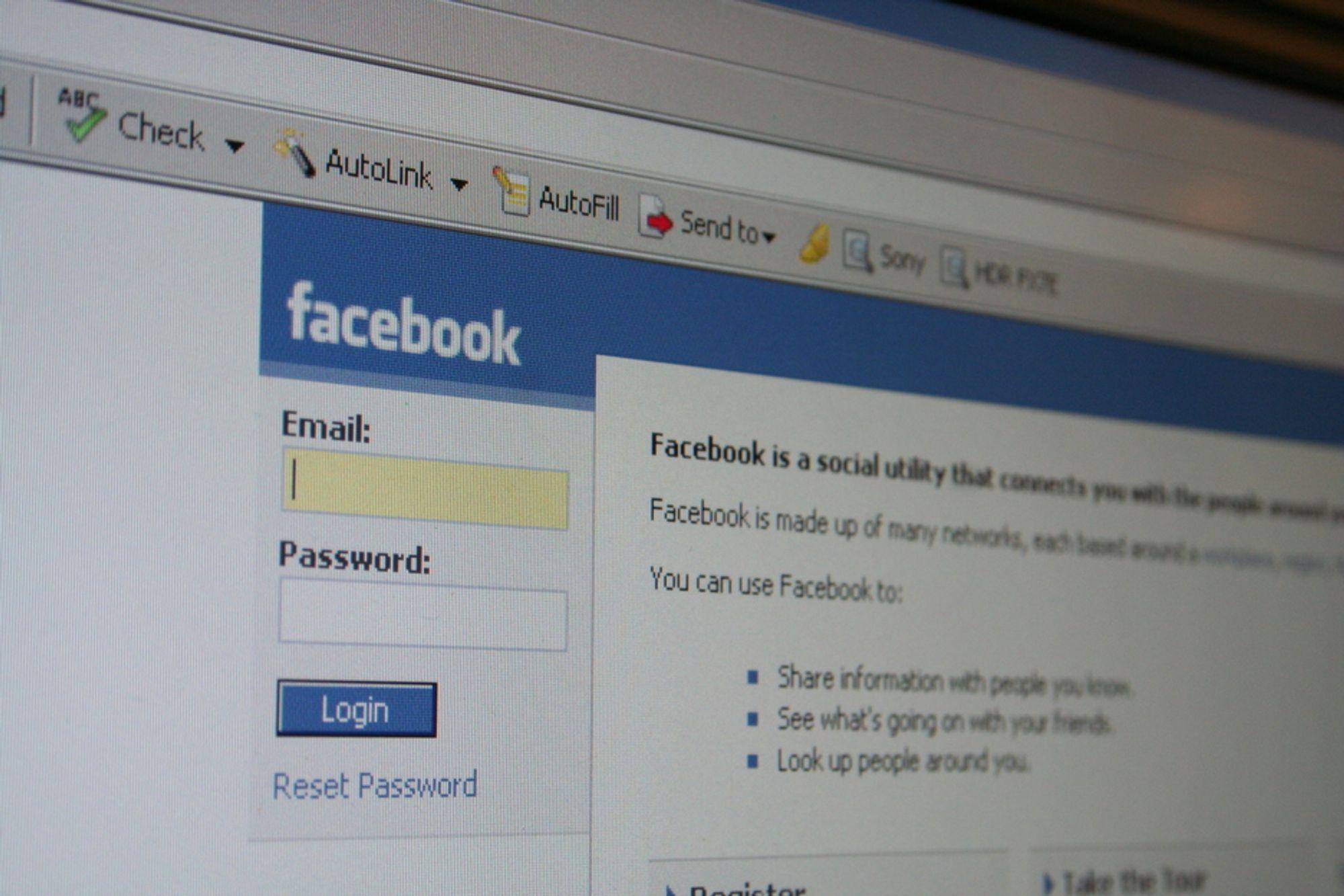 Datatilsynet er bekymret over Facebook-bruken.