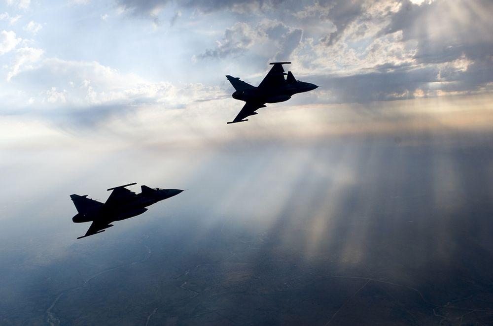 ULYKKE: Det svenske forsvaret skal nå gå gjennom utskytningsmekanismen i de såkalte Gripen-flyene.