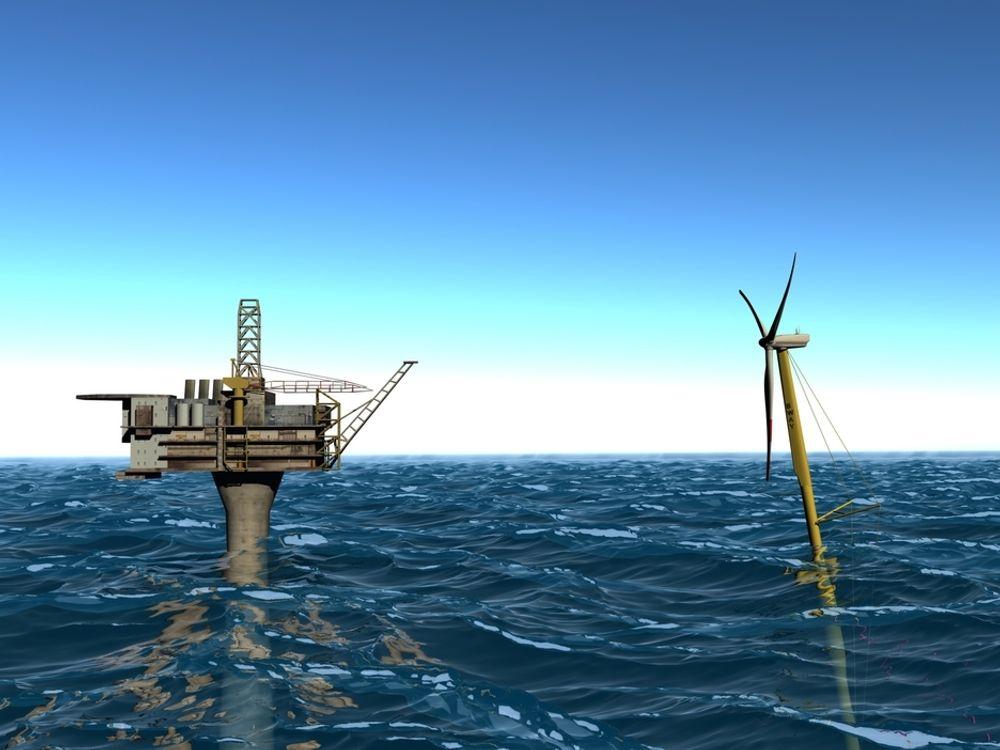 VÅT ENERGPRODUKSJON: Statkraft har ambisjoner til havs. Illustrasjon.