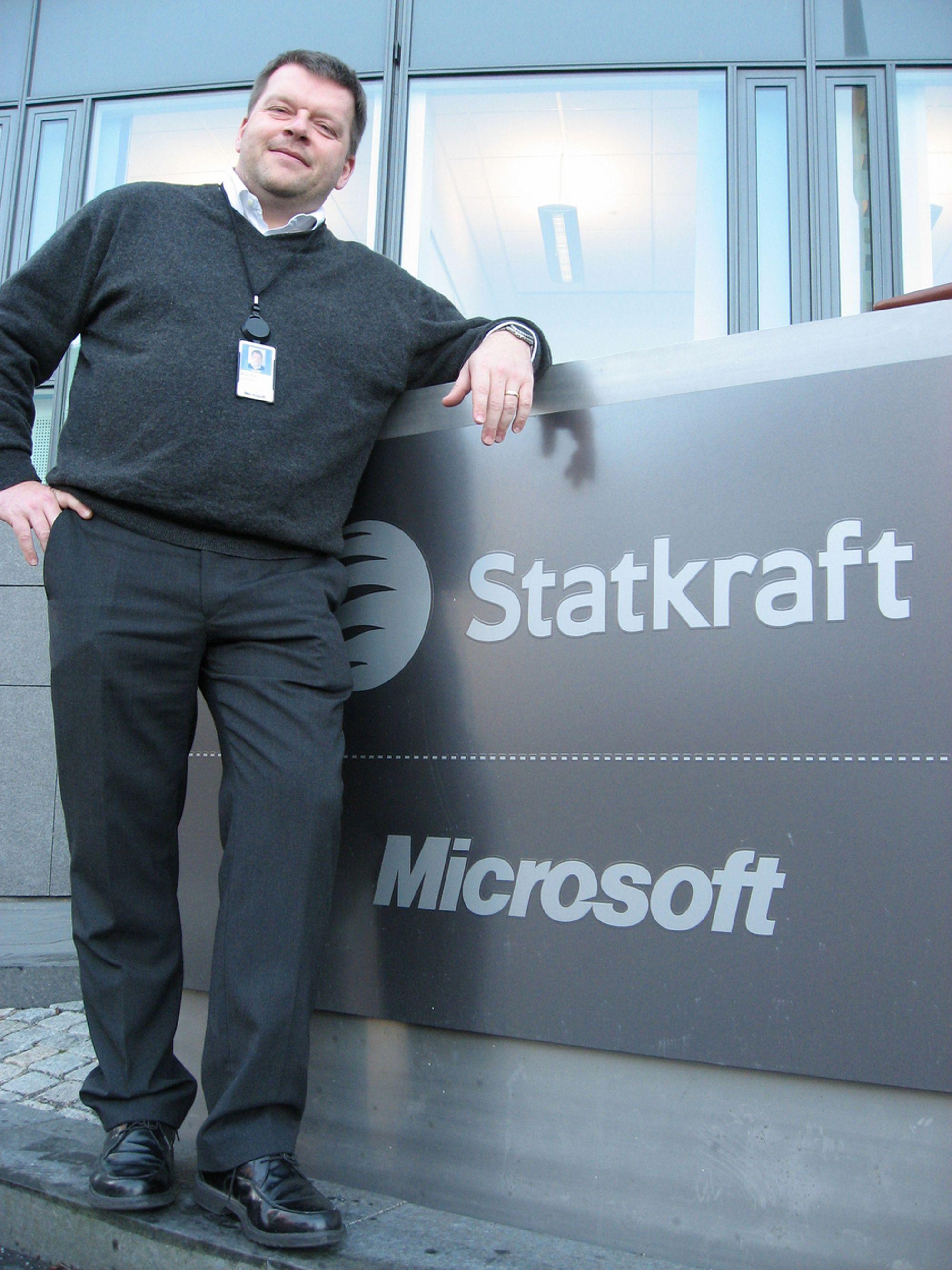SERVERSPESIALIST: Morten Jenssen i Microsoft har allerede lang erfaring med neste års versjon av selskapets serverplattform.