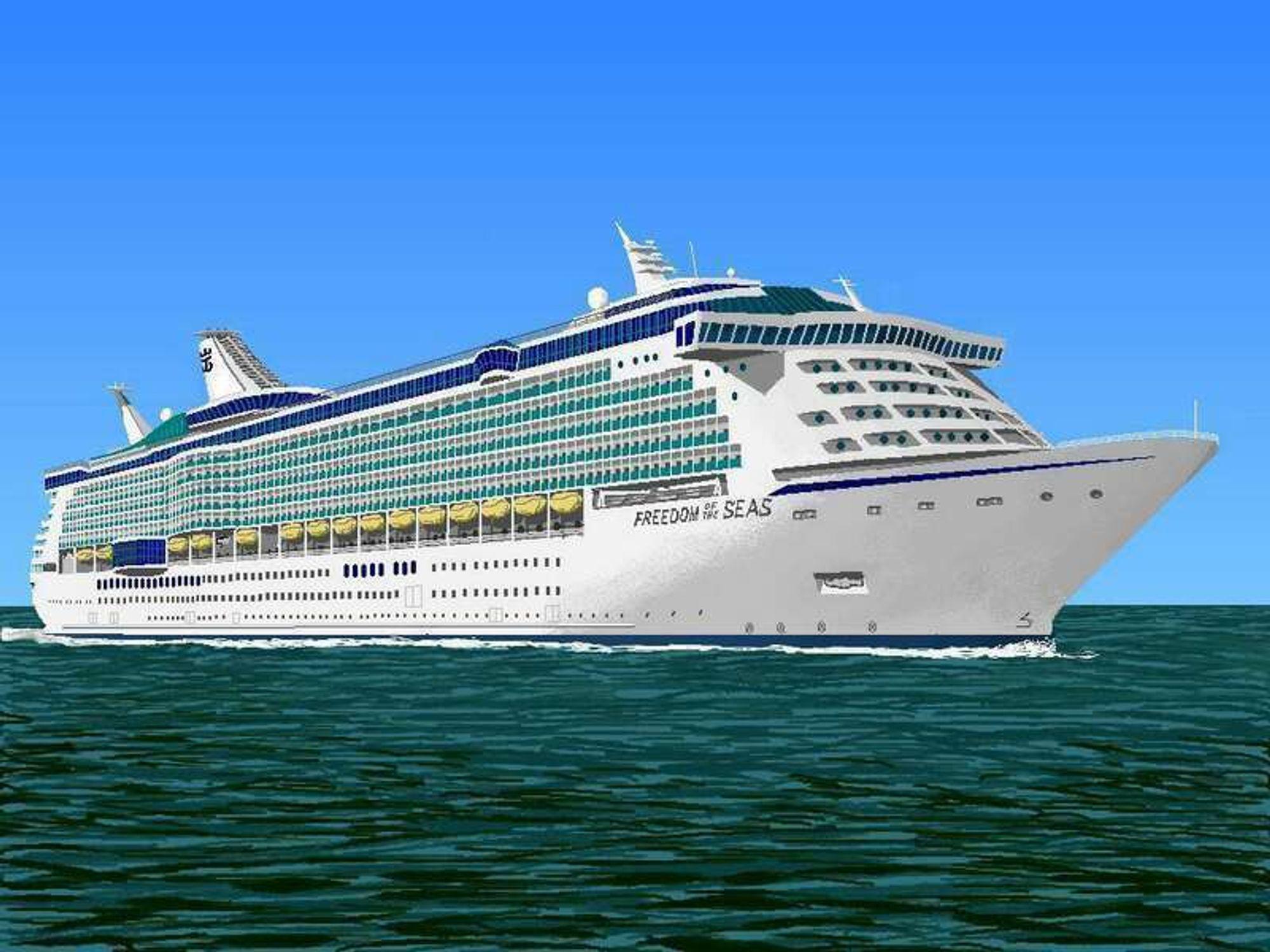 NY GIGANTBESTILLING: Royal Caribbeans har bestilt nok et skip fra Aker Yards. Her er første skip i klassen Freedom of the Seas, bygget ved tidligere Aker Kværner i Finland.