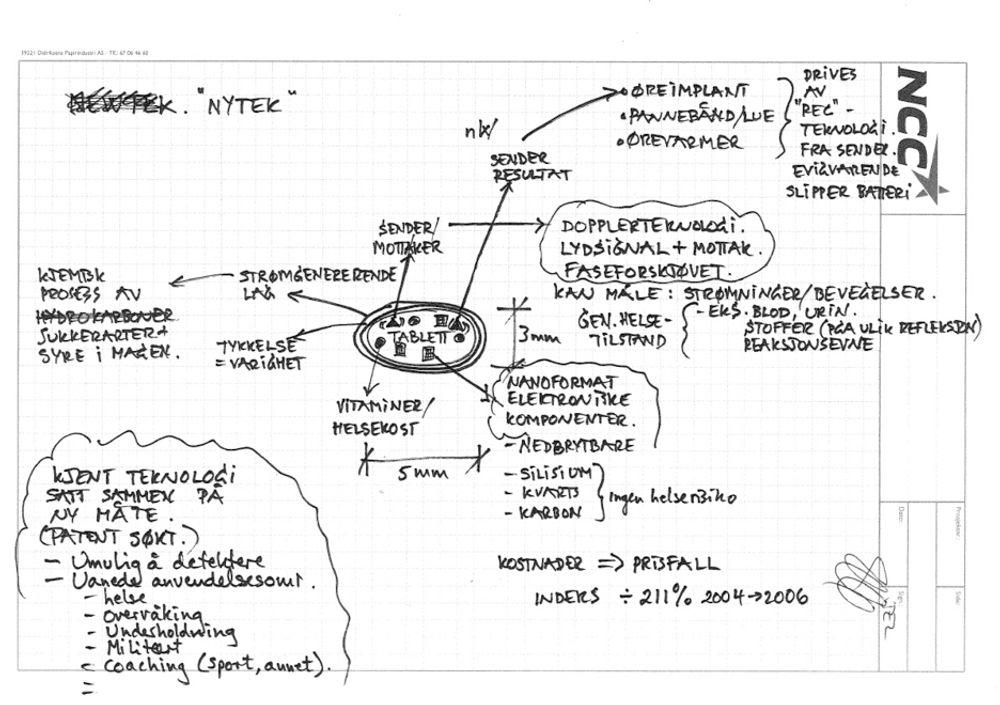 DIAGNOSEPILLEN: Slik forklarer aprilspøkforfatter Jon-Erik  Lunøe, adm.  dir. i NCC Bolig  sin spøk om nanotabletter. Meget troverdig!
