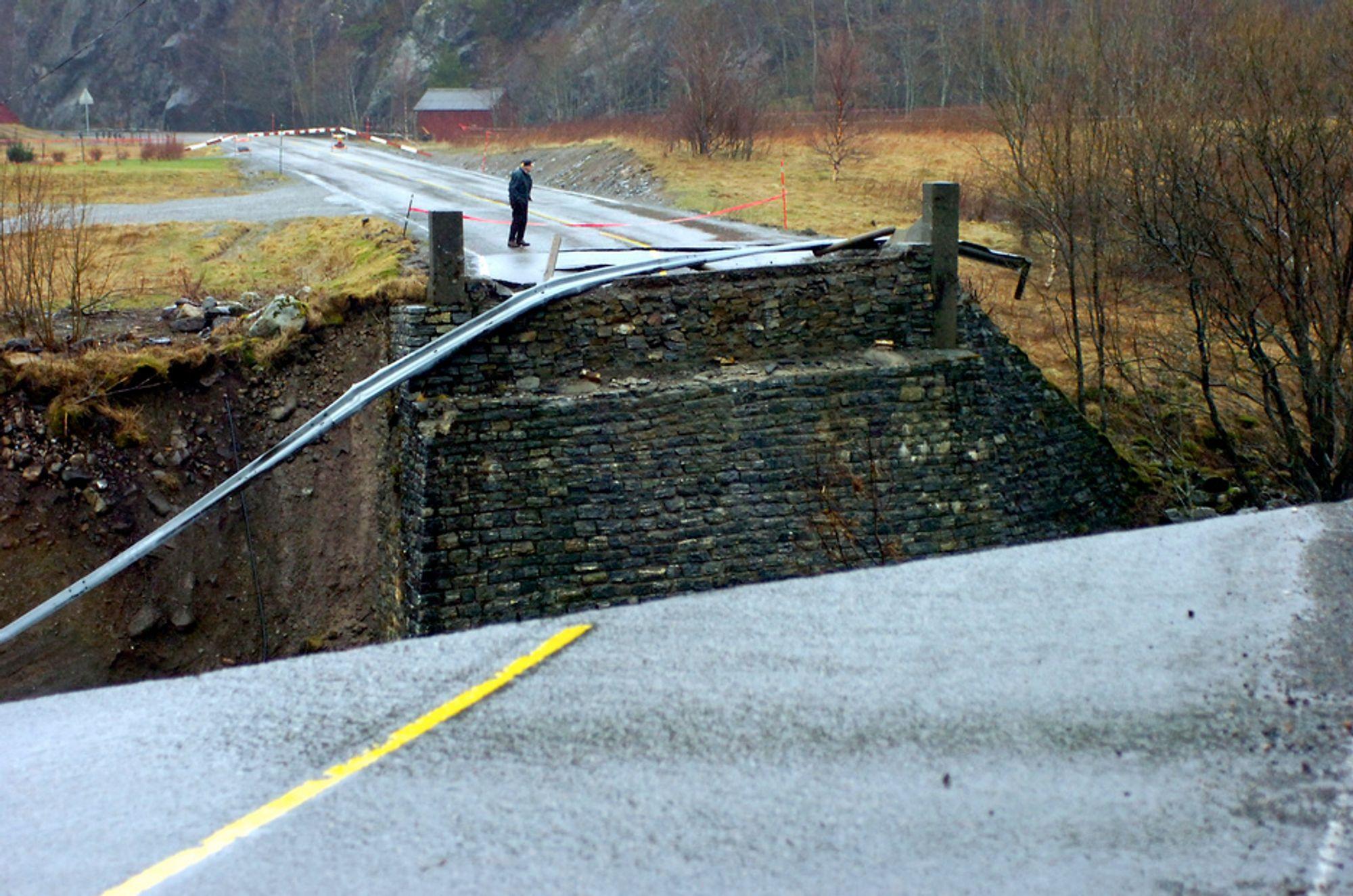 Arnevik bru ble tatt av flommen i fjor høst.  Vegvesenet fikk  kritikk etter flommen som rammet Nord- og Sør-Trønderlag i 2006. Vegvesenet har  derfor utarbeidet en beredskapsplan.