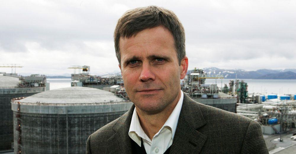 Konsernsjef Helge Lund i StatoilHydro holder i ettermiddag en orientering om oljeutslippet fra Statfjord A.
