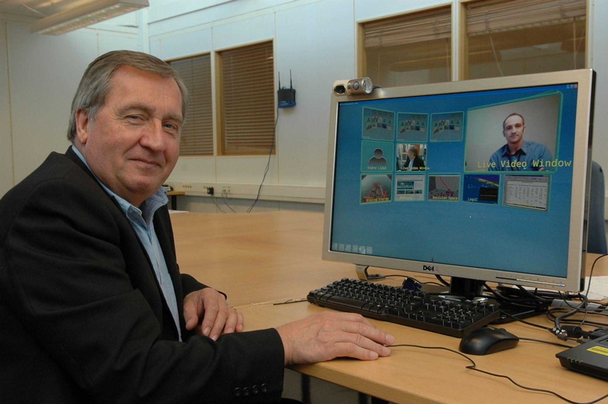 SAMHANDLINGSPORTAL: ¿ Vi har laget et system som forenkler oppsettet for integrerte operasjoner eller samhandling i det virtuelle rom, forteller Magne Arne Brekke