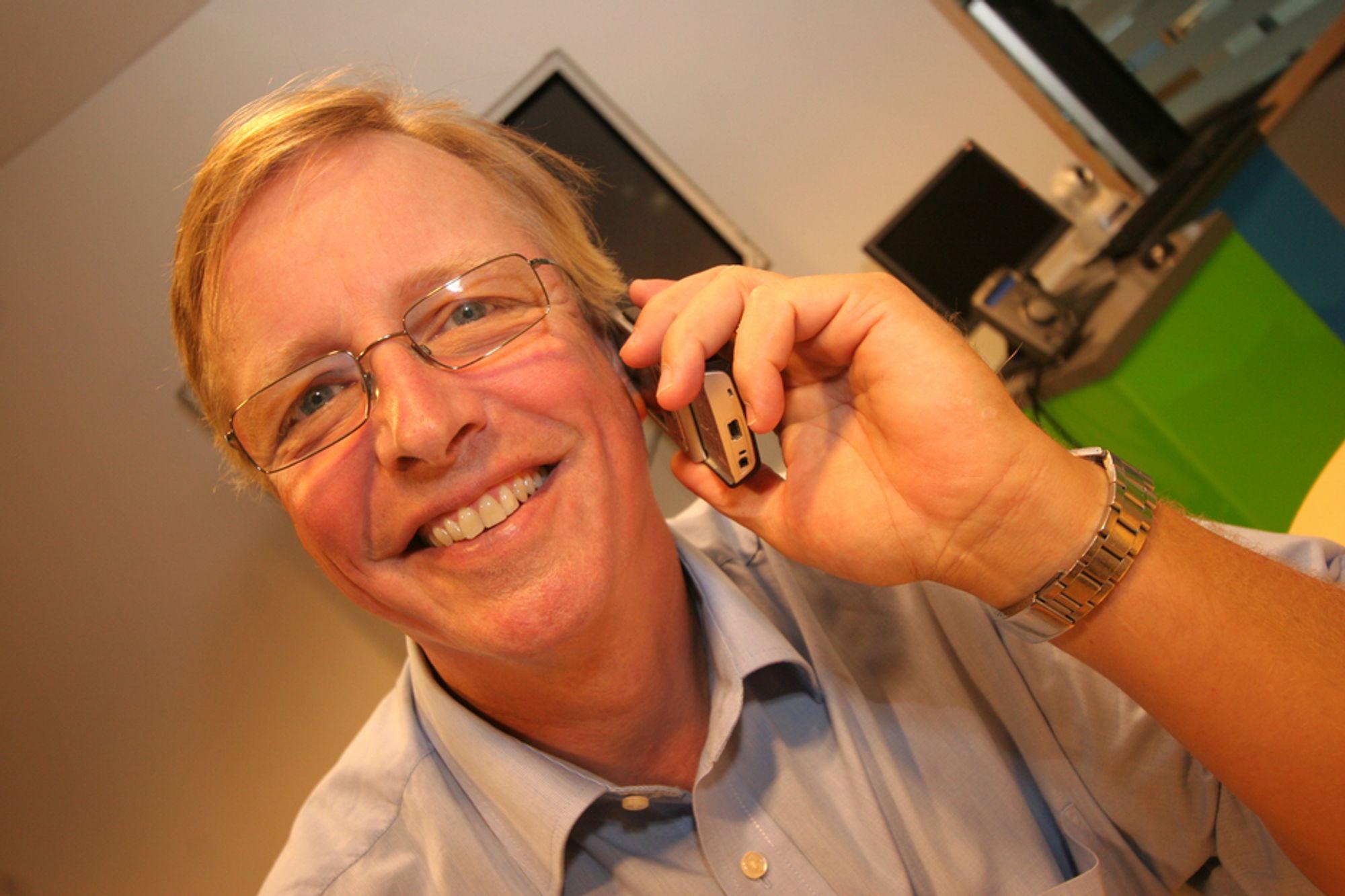 IP-ER HELE VEIEN: Bane Tele-sjef Stig Herbern får et bedre nettilbud til sine kunder.