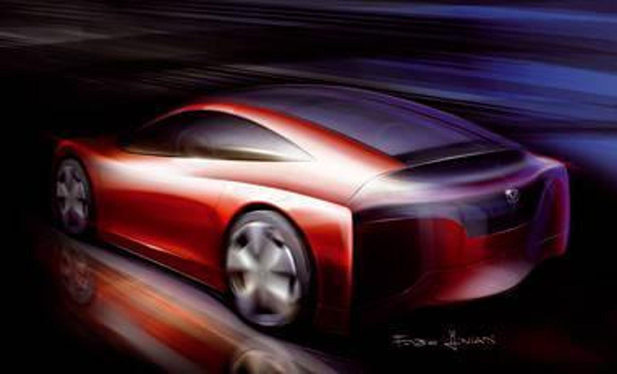 SKISSE: Honda FCX - der F står for Fuel og C for Celle. Flere instanser har bidatt til utvikling av en effektiv liten brenselcelle. Bilen  får en rekkevidde på  540 km rekkevidde og toppfarten 160 km/t.