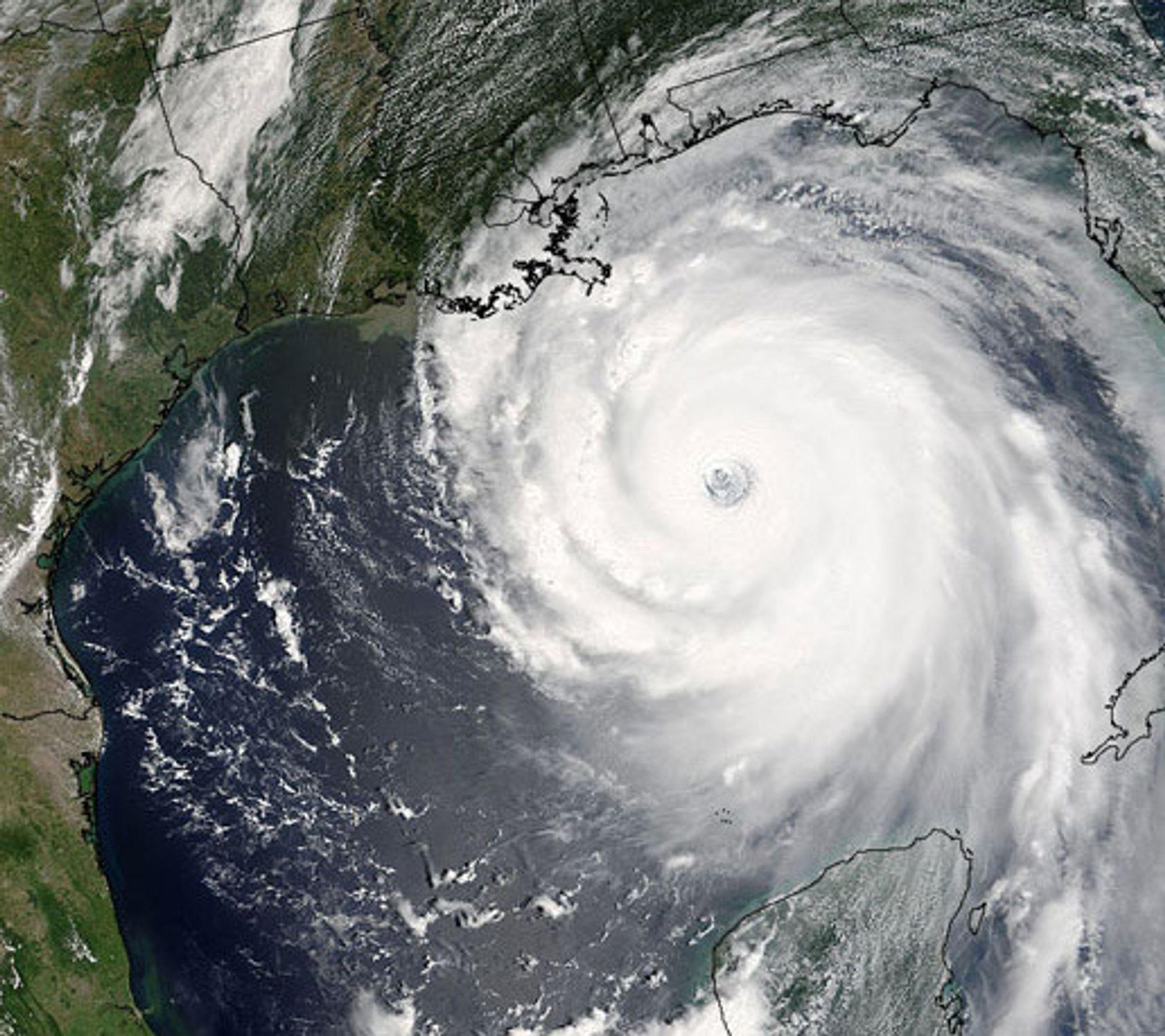 Amerikanske myndigheter tror på flere orkaner enn vanlig i år. Bildet er av orkanen Katrina som rammet blant annet New Orleans i 2005.