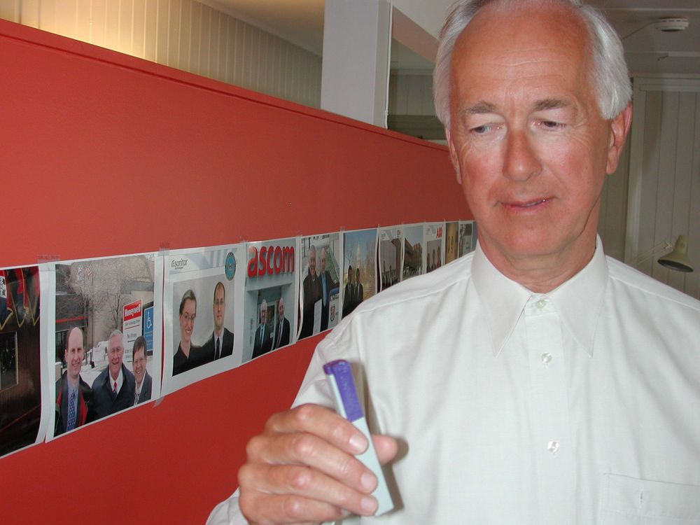 VIDEREUTVIKLING: Gründer og styreformann Ole B. Hovind i Sonitor finner nye anvendelsesområder for ultralydbrikken.