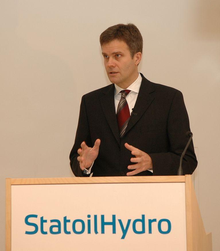 StatoilHydros konsernsjef, Helge Lund.