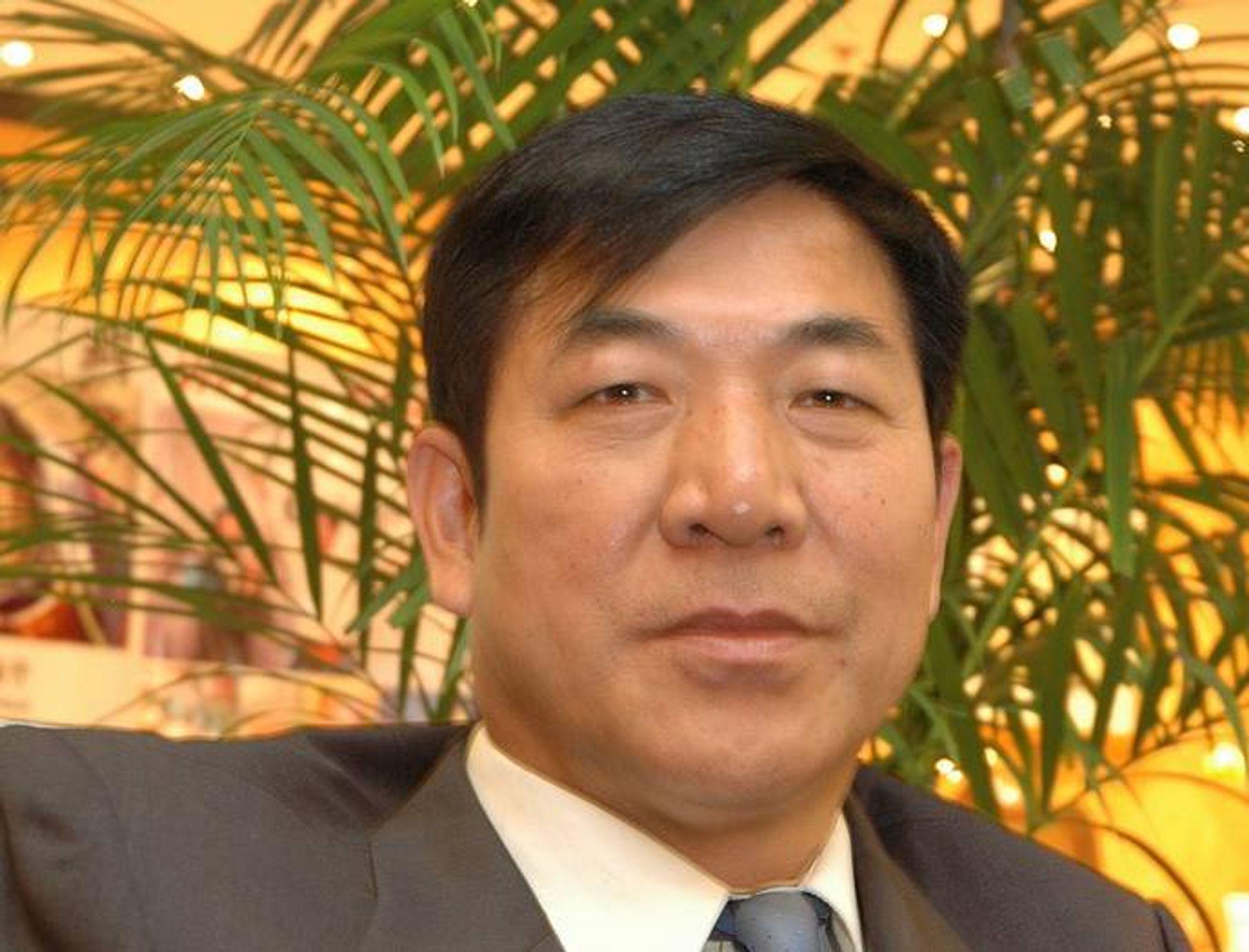 VELKOMMEN: Wang Yongyin, visepresident i den kinesiske sammenslutningen for rådgivende ingeniører ønsker norske ingeniørmiljøer velkommen til samarbeid.