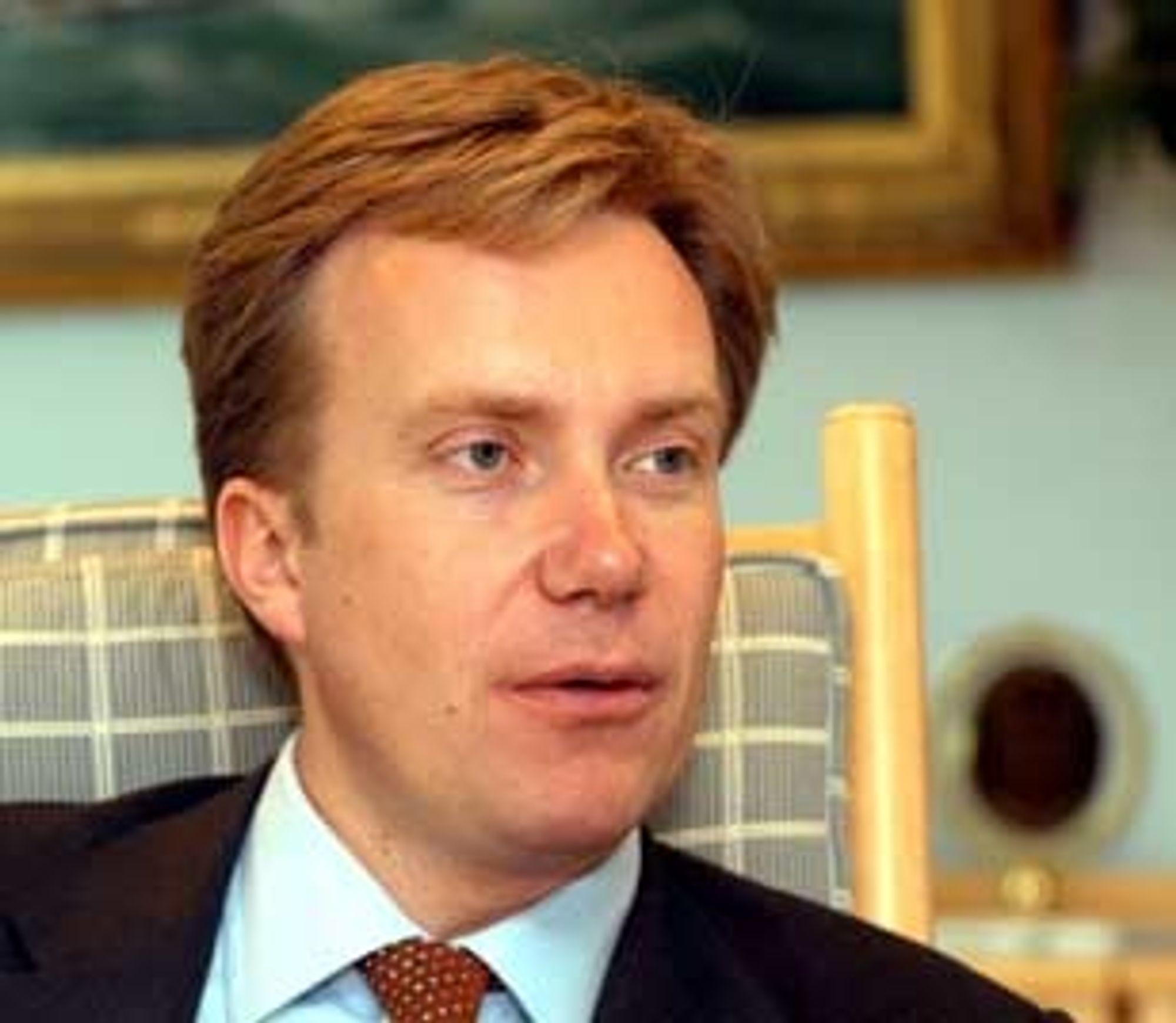 Næringsminister Børge Brende. Portrett. Foto: Knut Strøm