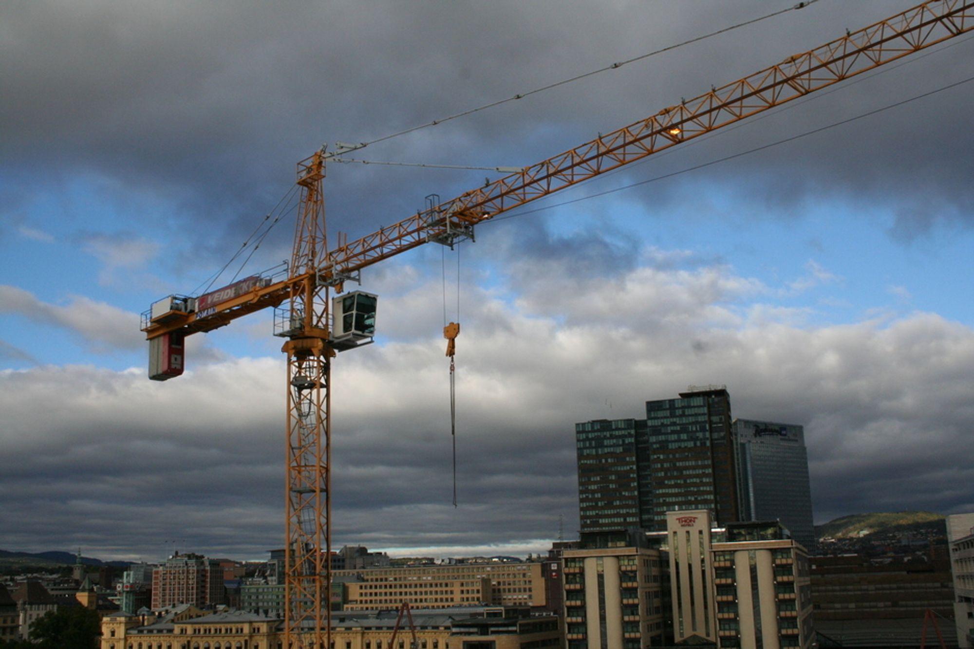 opera oslo utsikt bygg anlegg kran