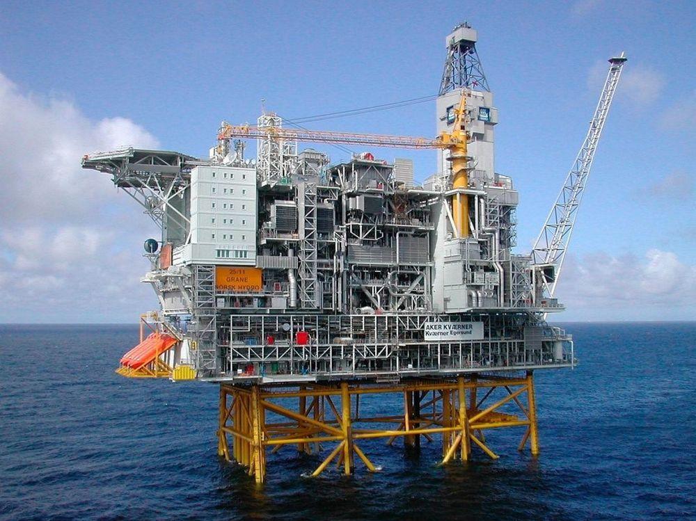 StatoilHydro har funnet lett olje 35 kilometer øst for funnet Gudrun og 30 kilometer sør for Grane-feltet (bildet) i midtre del av Nordsjøen.