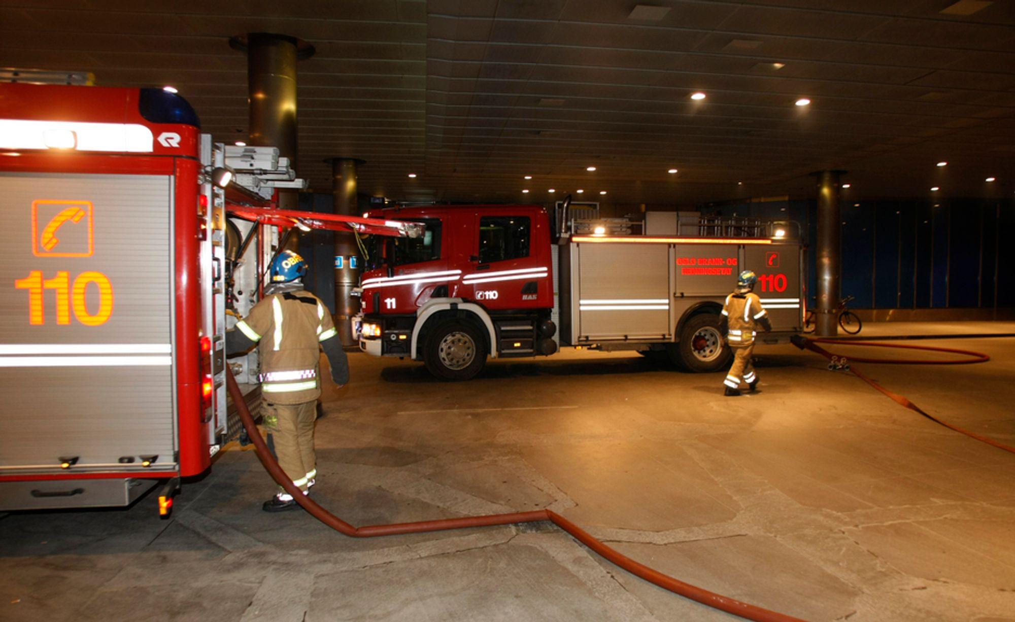 SLÅTT UT: Brannen på Oslo Sentralstasjon natt til onsdag slo også ut sentrale systemer på Sentrum politistasjon. Der er Norges nasjonale komandorom for terroranslag og krisesituasjoner.