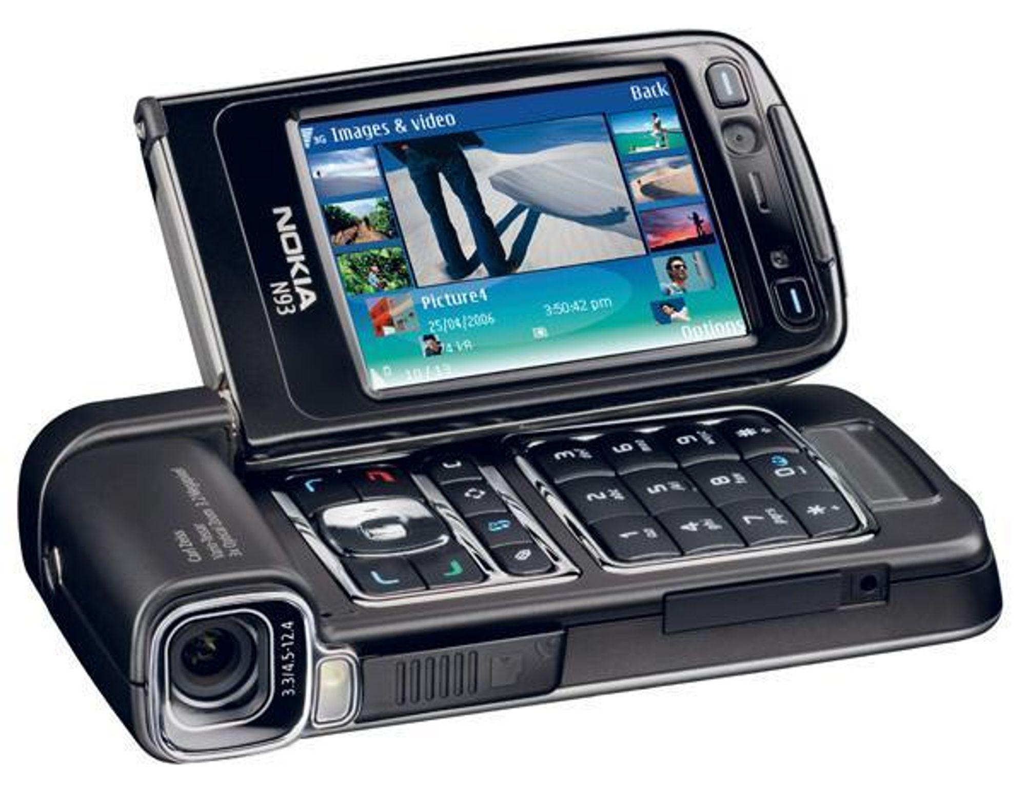 NOKIA N93: Mobiltelefon, digitalkamera (3,2 megapixel), videokamera, 3G-telefon med trippel GSM,  EDGE  radio, osv. osv.