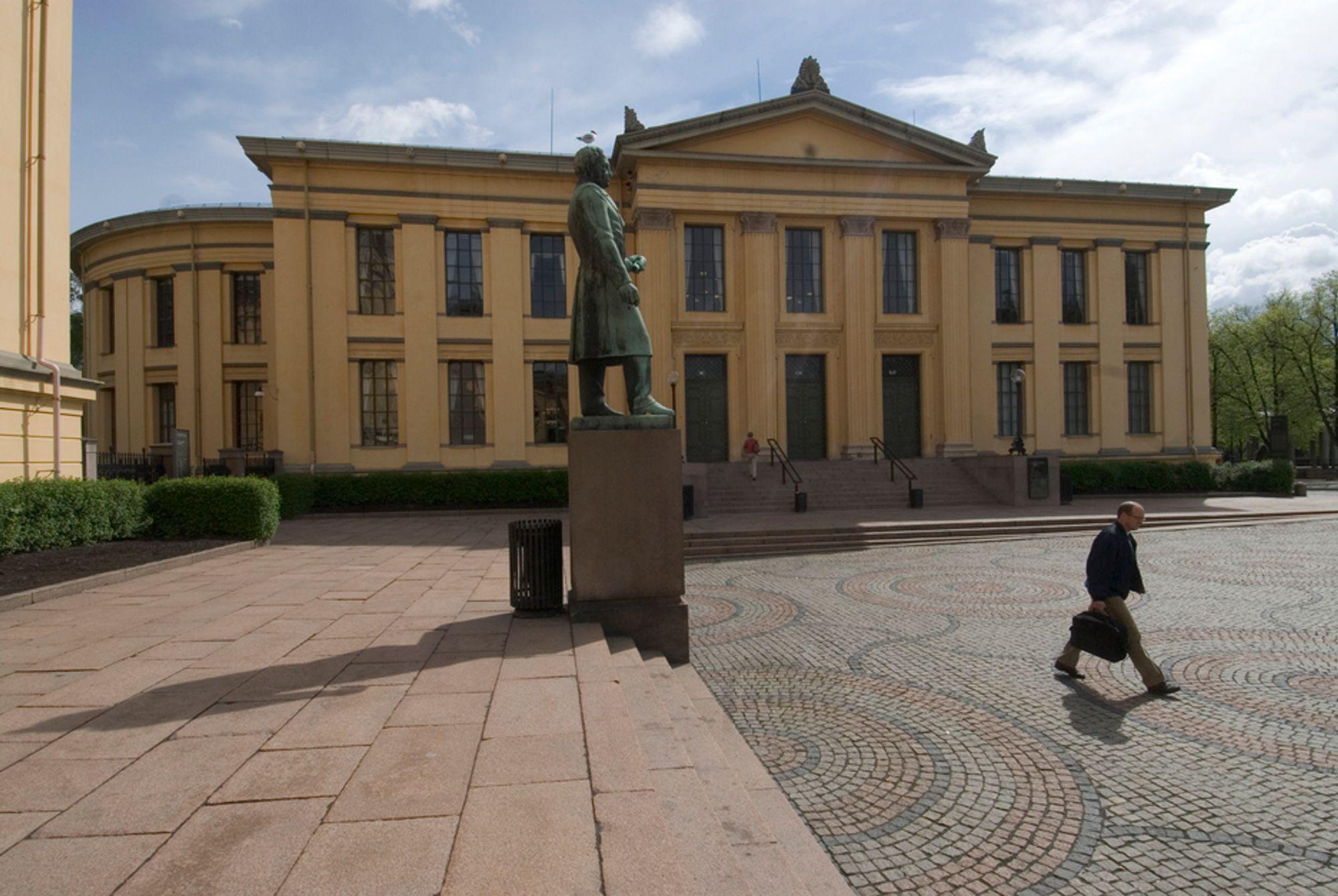 PRAKTFULL: Etter omfattende restaurering fremstår Domus Academica i dag like praktfull som da bygningen sto ferdig i 1852.FOTO: KNUT STRØM