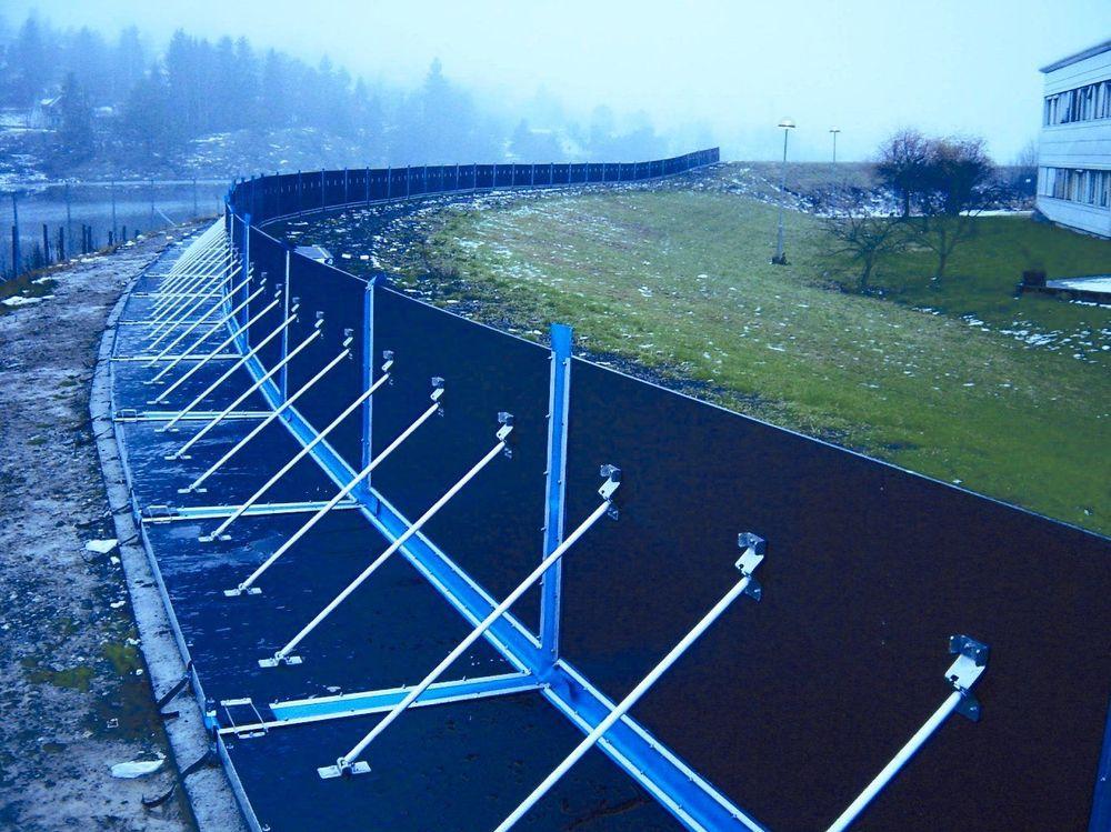 BEDRE VERN: Dette utstyret fra AquaFence er et eksempel på hvordan verdier raskt kan vernes mot flom. FOTO: LEIF HAALAND