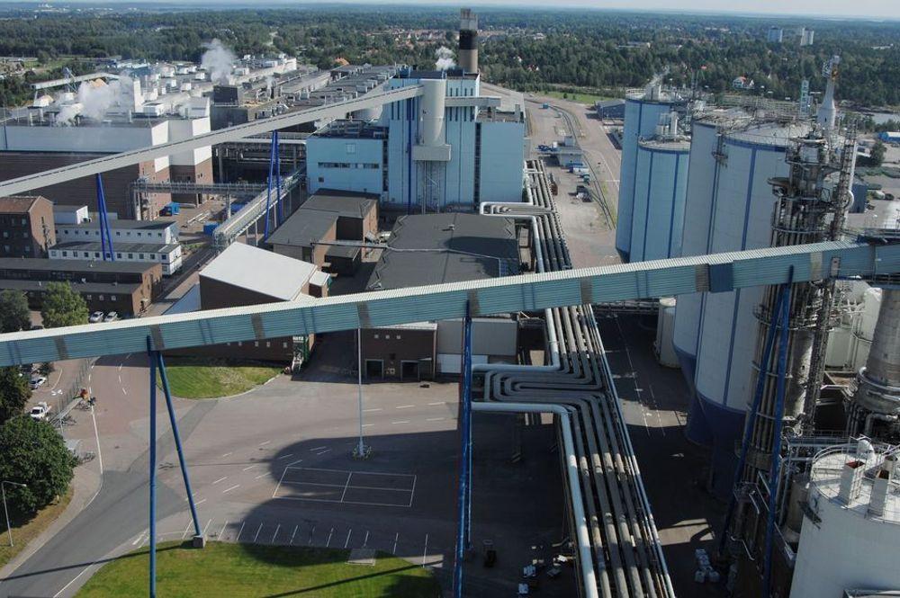PAPIRGIGANT: Stora Enso Skoghall i Karlstad har redusert sine CO2-utslipp med 75 prosent de siste tre årene. Energieffektiviseringen har kostet ca 1,7 milliarder kroner.
