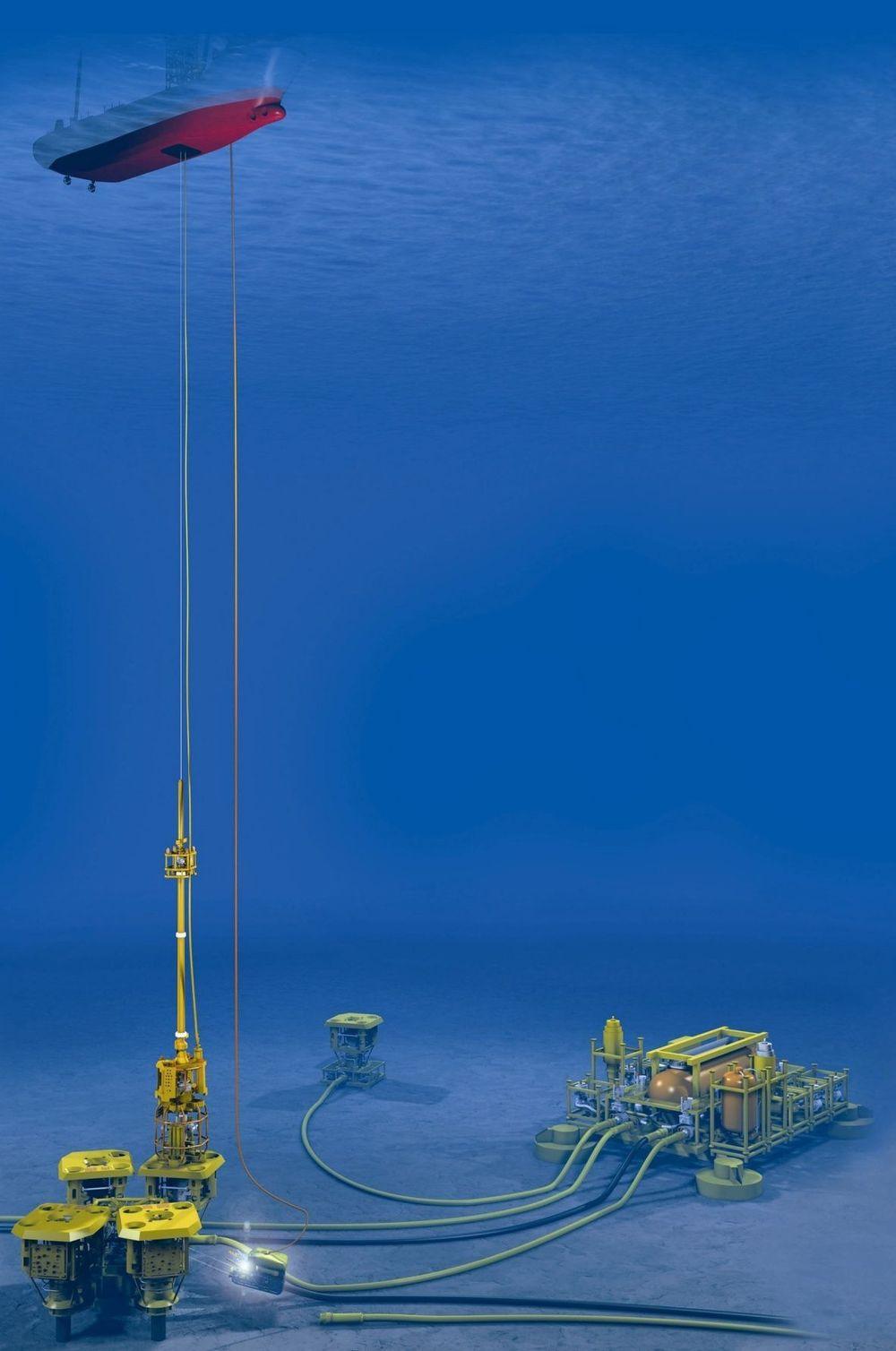 KABEL:Lett brønnintervensjon gjøres fra et enkelt fartøy til en brønn ved bruk av kabel og dermed spare penger i forhold til bruk av en stor borerigg. Teknologien er den tyngste utviklingsoppgaven noen sinne gjennomført av FMC Kongsberg Subsea.  ILL: FMC