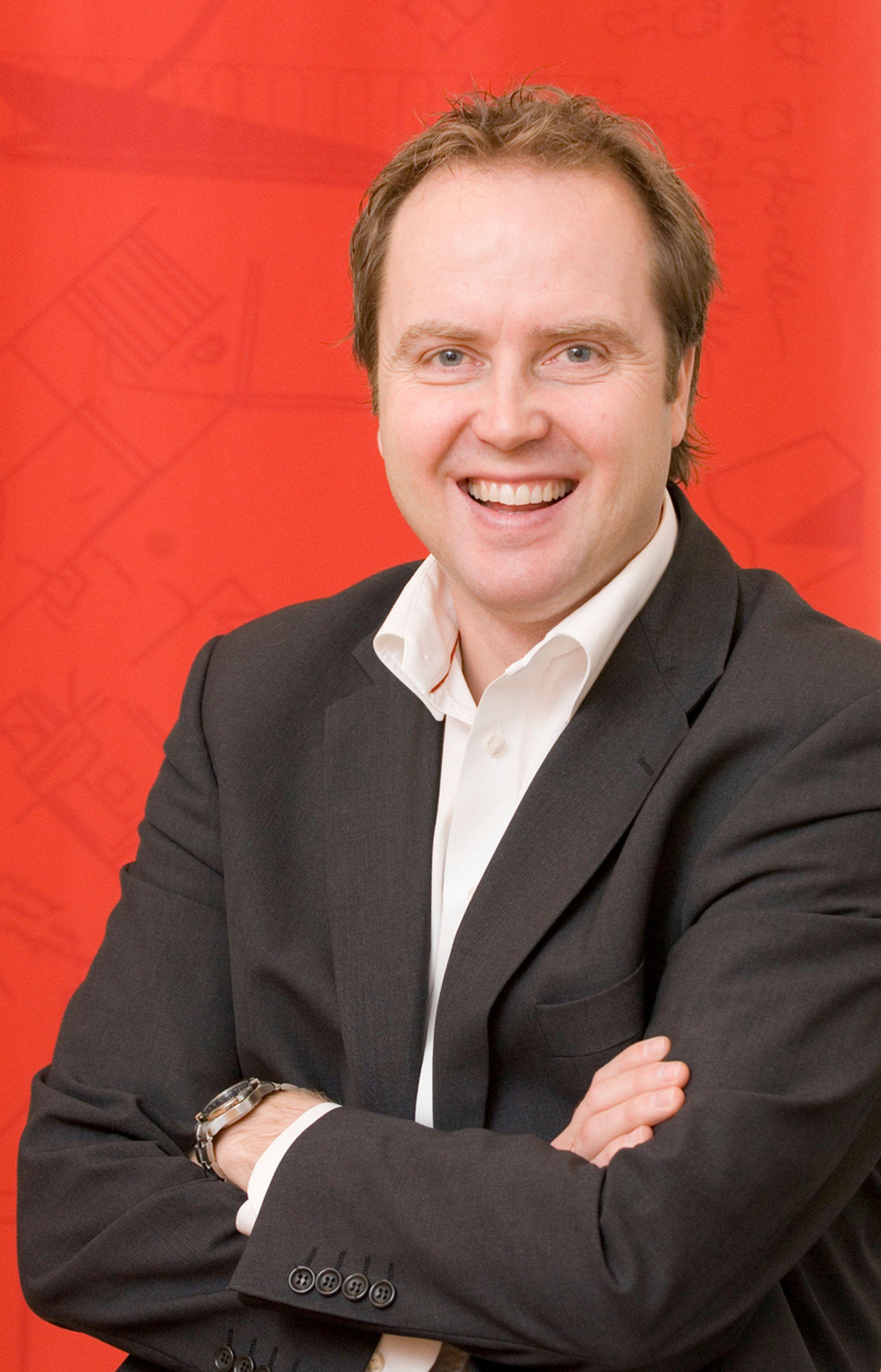 VOKSER: Administrerende direktør i Byggmakker Norge, Espen Hoff, ser finanskrisen som en mulighet for å ekspandere.