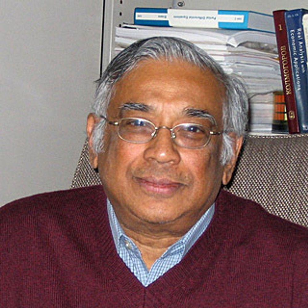 VANT MATEMATIKKENS NOBELPRIS: Abelkomiteen mener ideene til Srinivasa S. R. Varadhan har stor innflytelse og vil stimulere til videre forskning i lang tid.