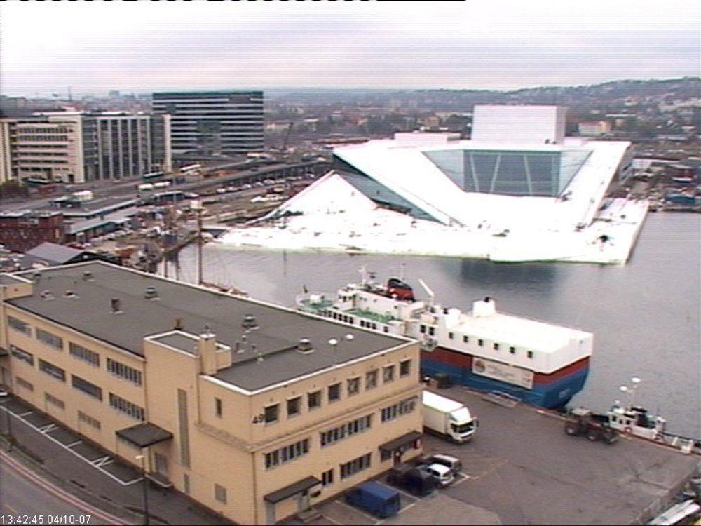 TRAILER LAGER: Oslo Havn vil gjerne parkere gamle trailere ved det nye operahuset. Arkitektkontoret så for seg en park.