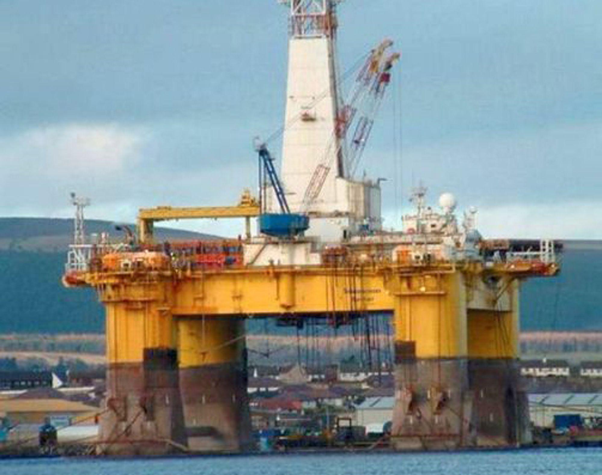 Boreriggen Transocean Rather har funnet olje i Rosebank-brønnen ved Shetland. Statoil eier 30 % av feltet.