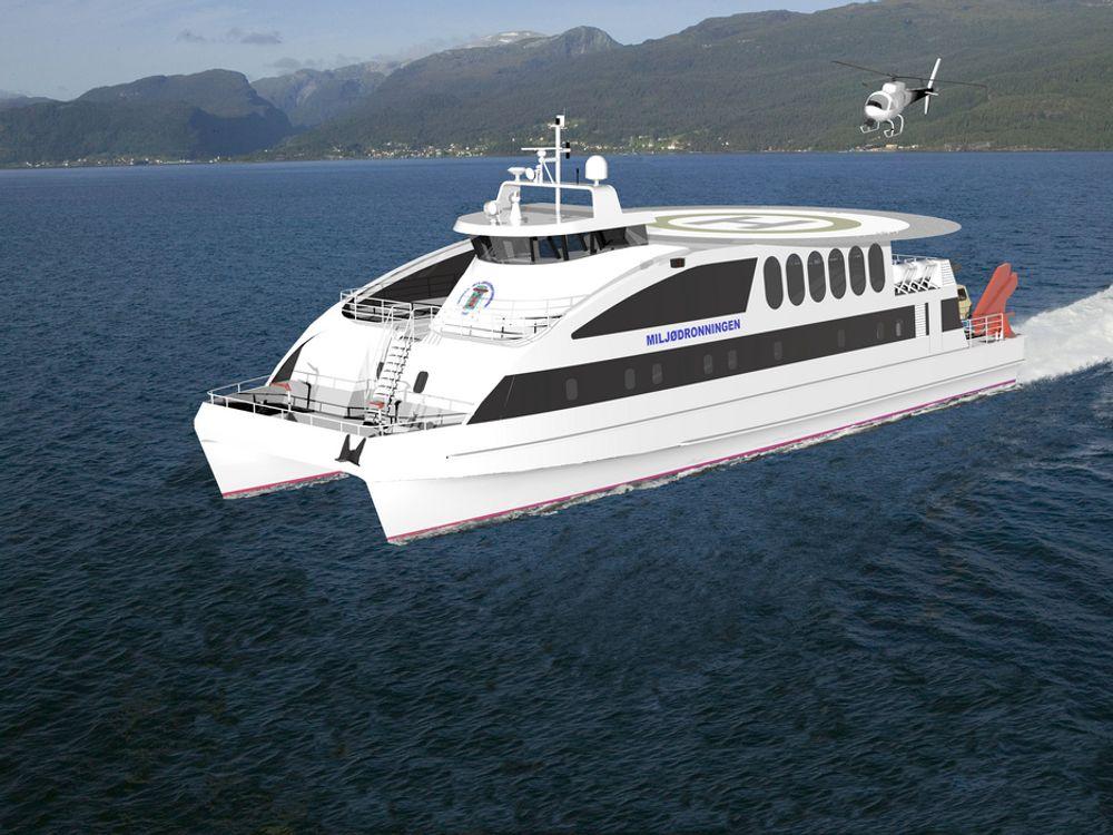 FLYING CAT: Dette er ikke luksusyachten til Røkke, men det nye overvåkningsfartøyet til Norges Miljøvernforbund.