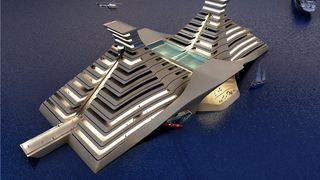 Bygger flytende pyramidehotell