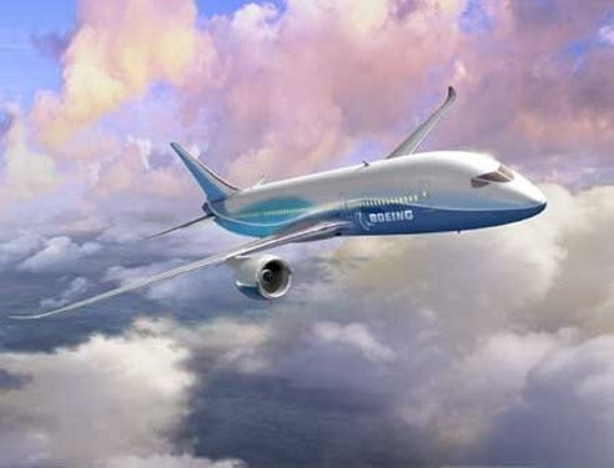 OM TO ÅR: Boeings nye Dreamliner B7E7 skal fly i +900 km/h over 15 000 kilometer med økt komfort og økonomi sammenlignet med dagens fly. FOTO: BOEING