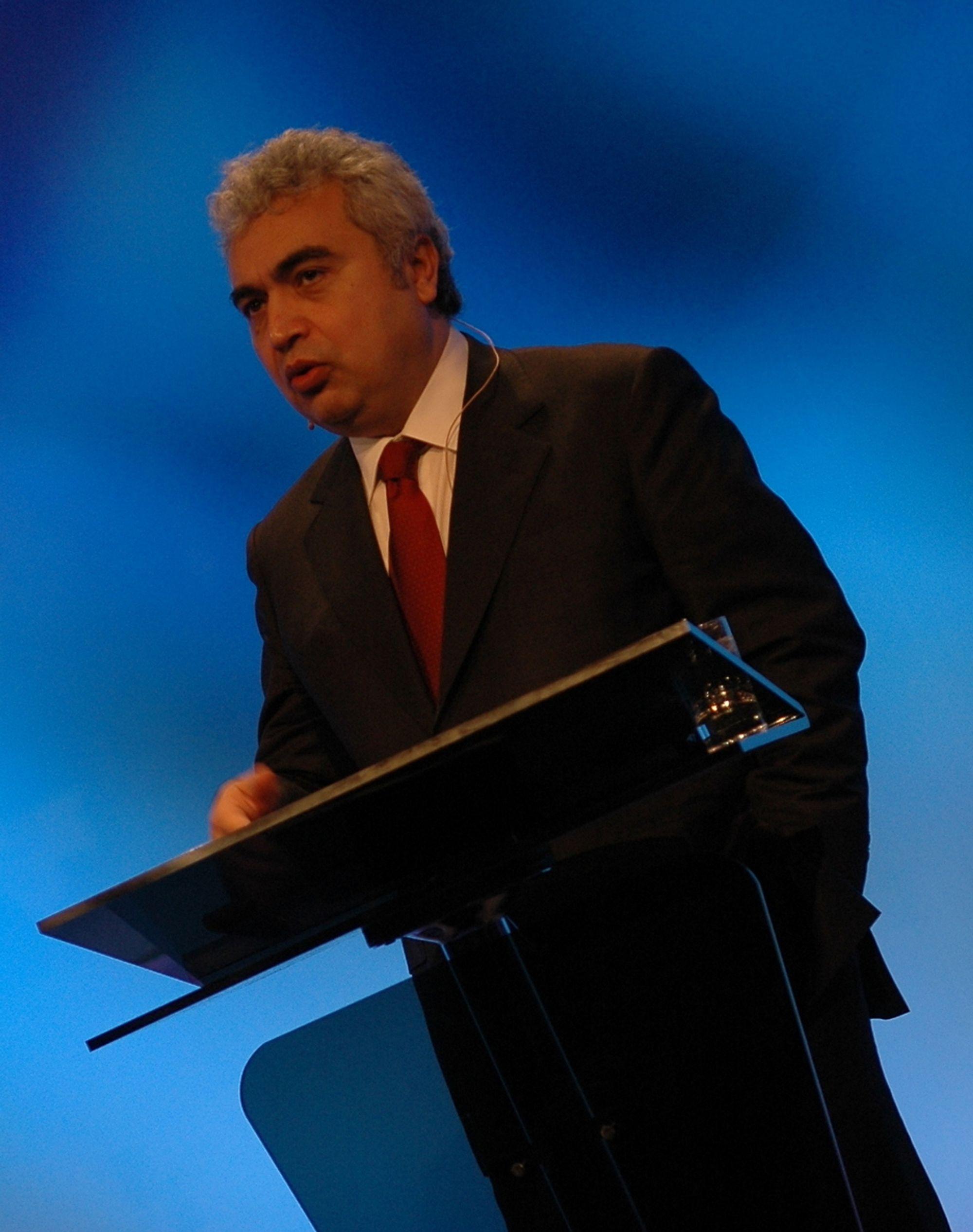 dr. Fatih Birol  er sjefsøkonom i IEA og leder av World Energy Outlook.