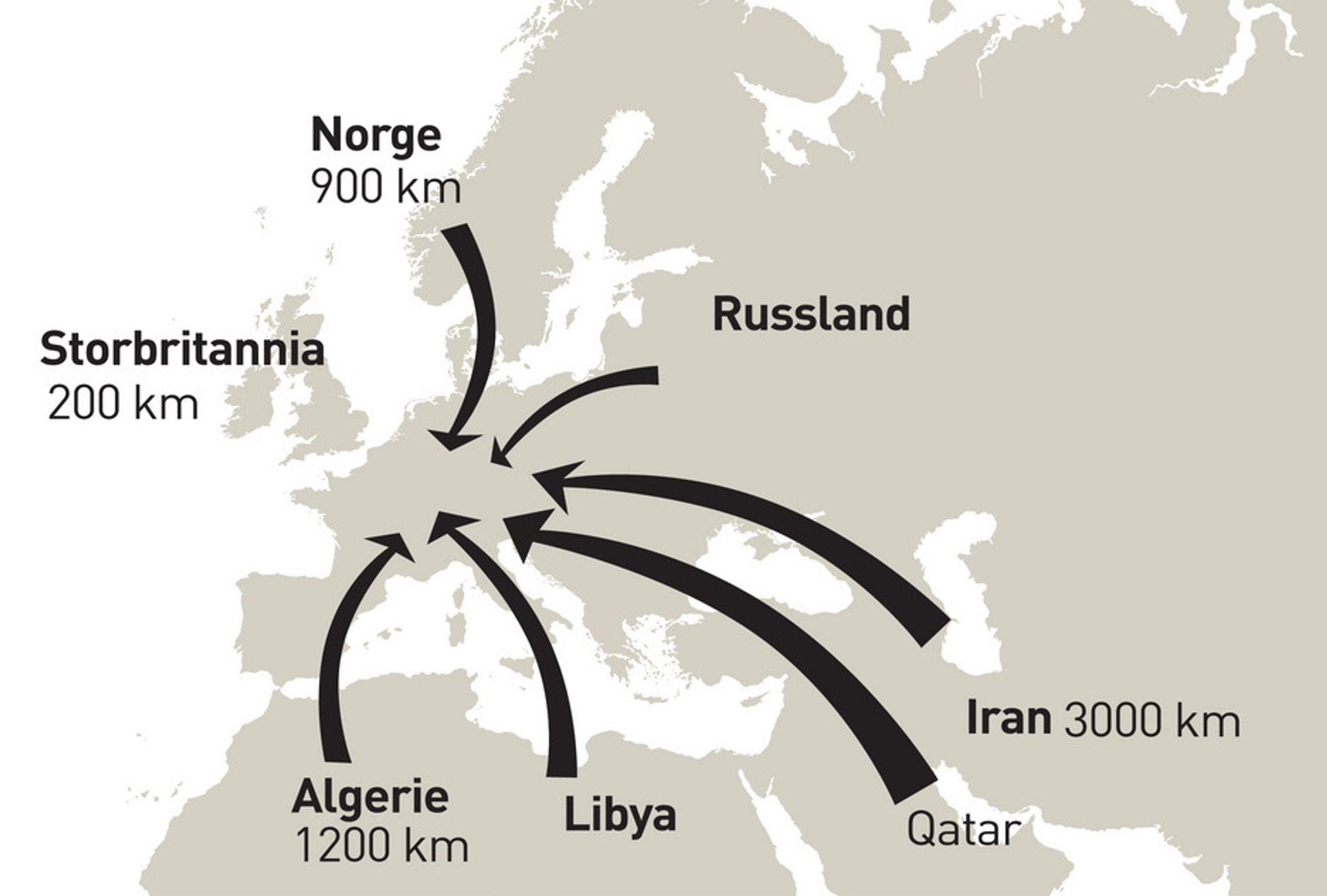 Europeisk frykt for gass-OPEC