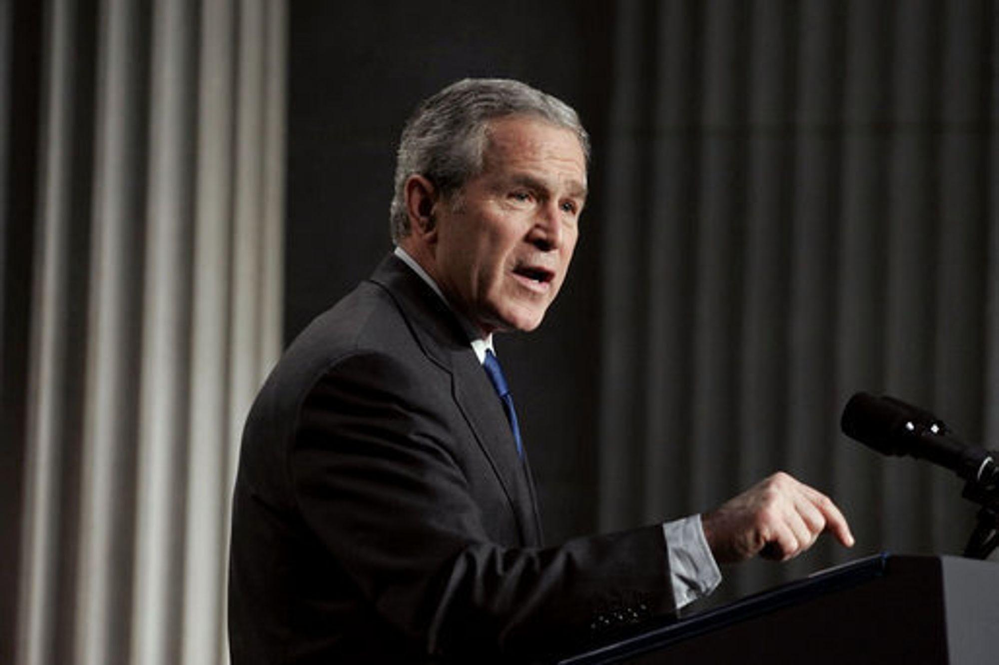 President George W. Bush, USA.