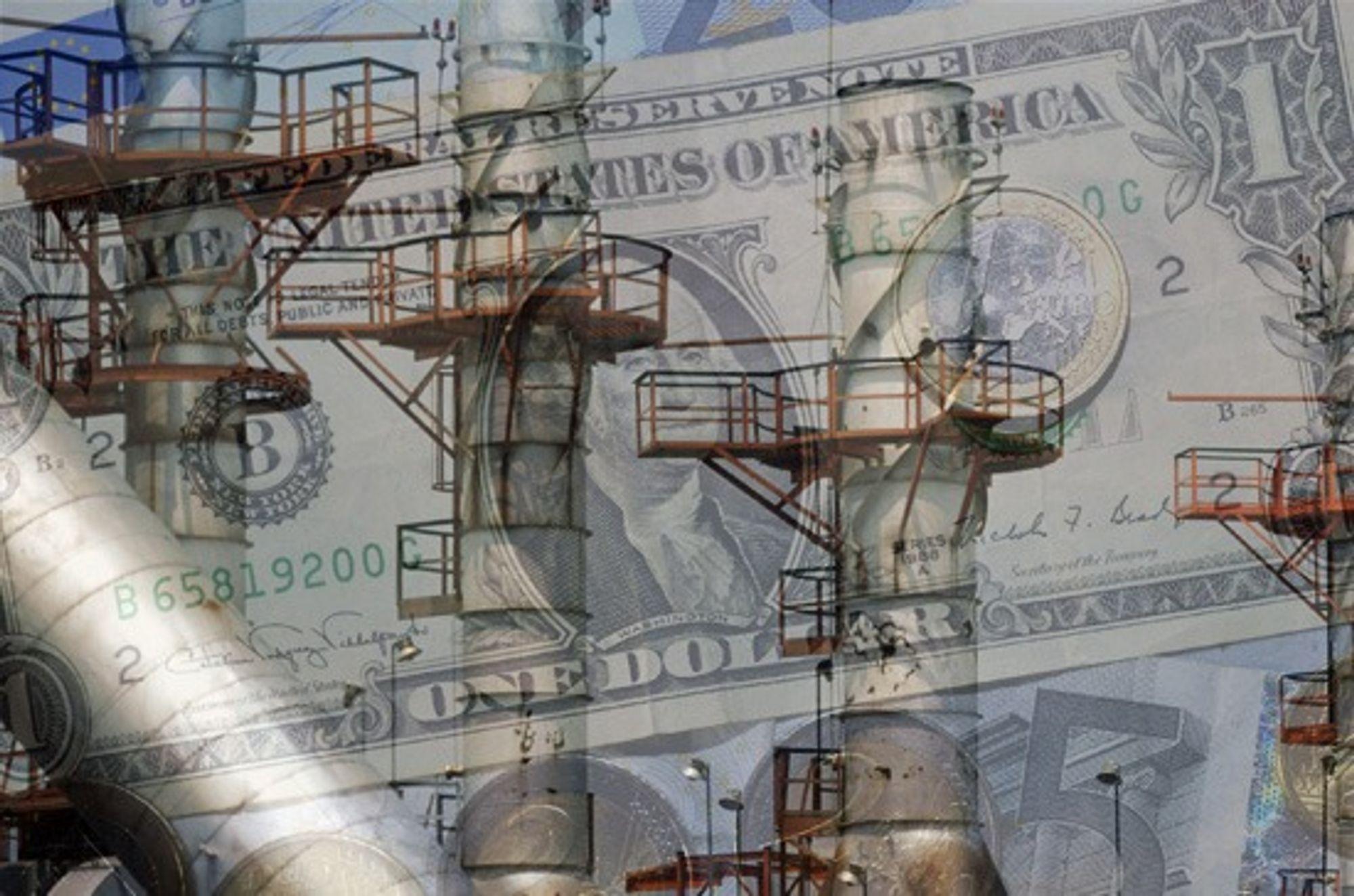 KRITIKK: Greenpeace beskylder Exxon for fortsatt å gi penger til organisasjoner som er tvilsomme til klimatrusselen. (Montasje)