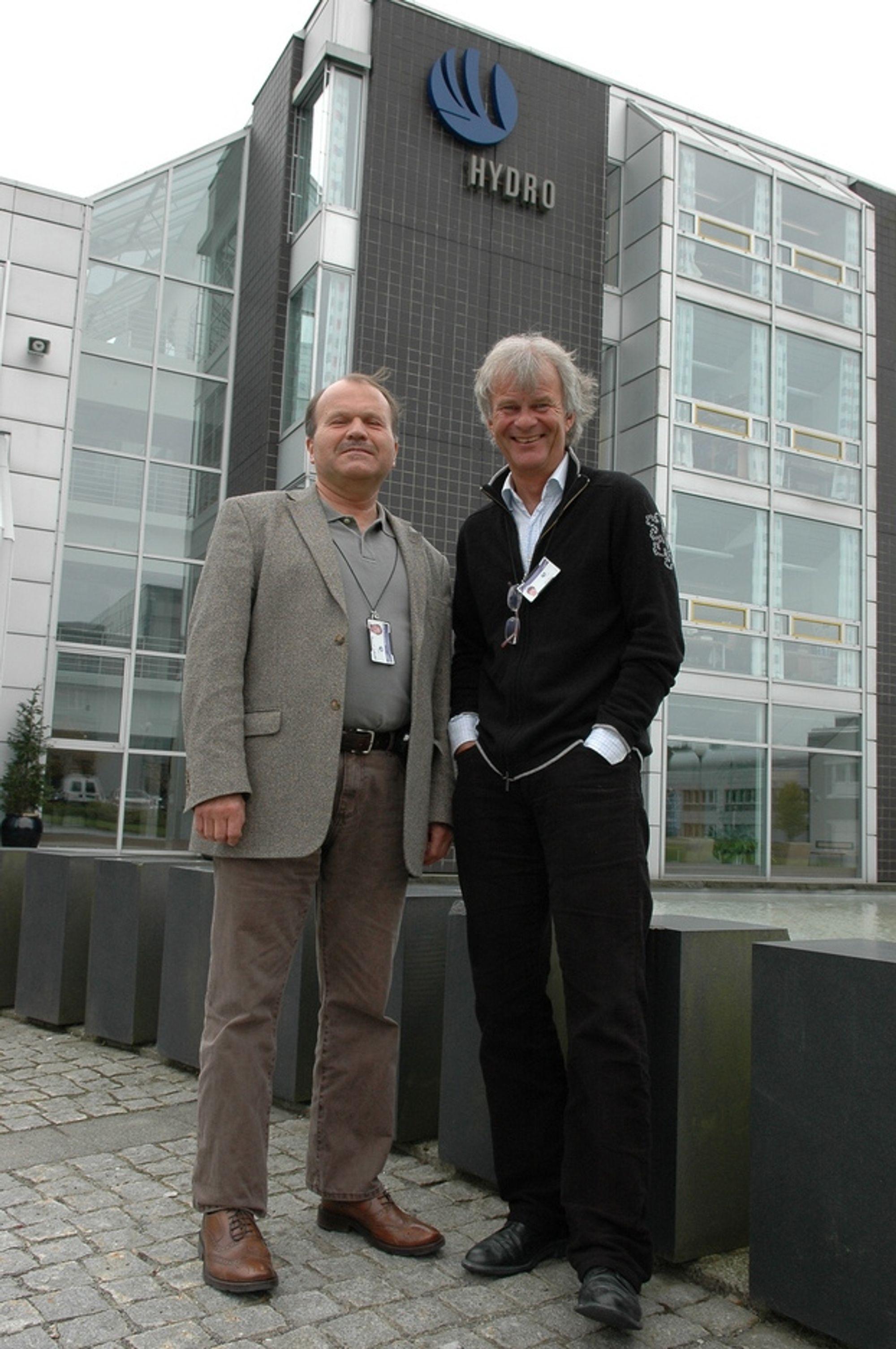 RASKERE OG BILLIGERE: Kombinasjonen seismikk og elektromagnetisme øker sannsynligheten for nye olje- og gassfunn, mener Svein Johnstad og Leif Lømo i Hydro.