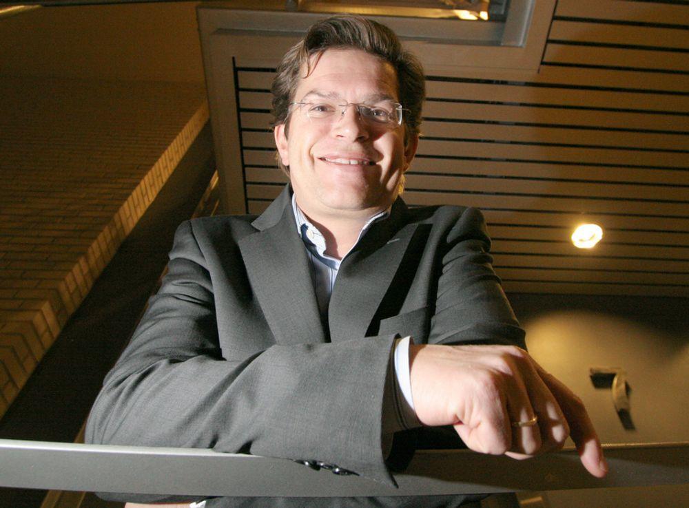 PENGENES MANN: Generalsekretær Knut T. Traaseth i Norsk Venture.