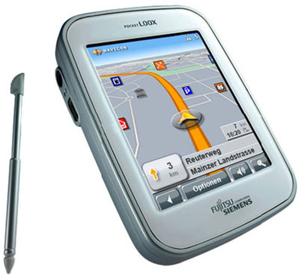Fujitsu Siemens Pocket Loox N100 - GPS navigasjonsverktøy.