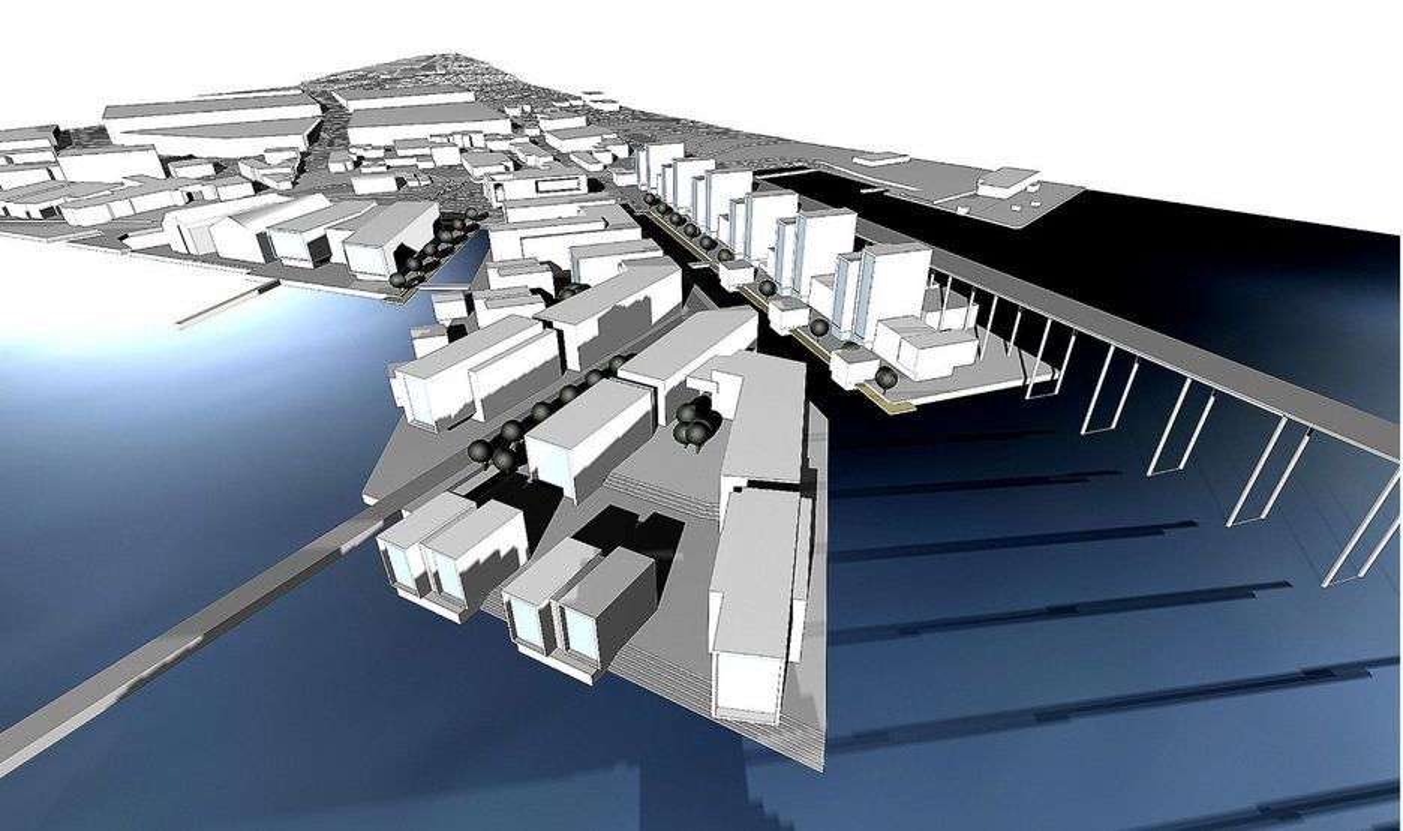 SKIPSVERFTSTOMT: I Tromsø skal det bygges boliger like ved den karakteristiske Tromsøbrua.