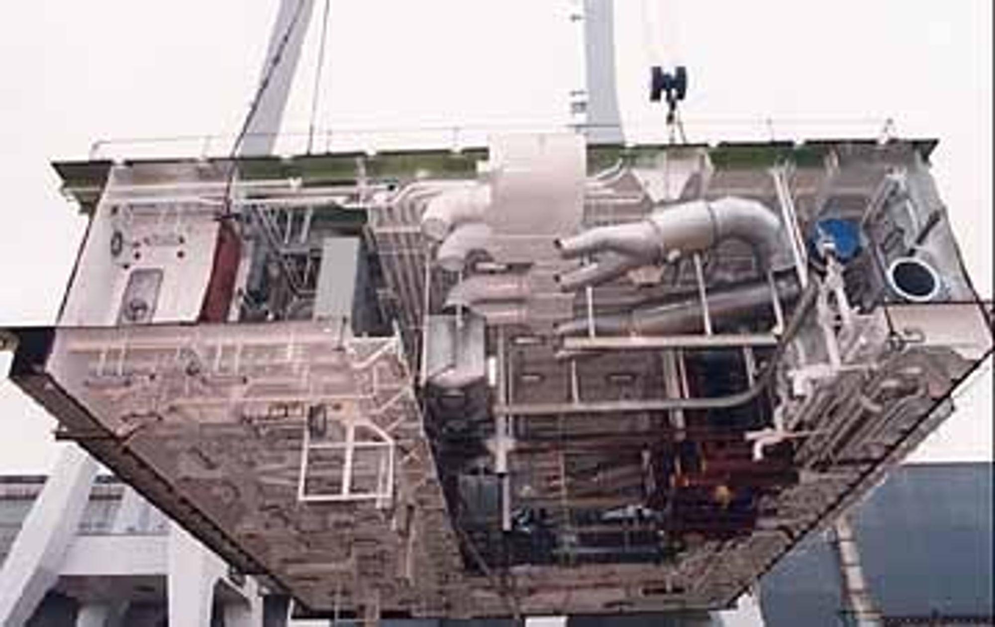 MODULER: De fem norske fregattene skal bygges i form av blokker, ferdig utstyrt med moduler. FOTO: BAZAN/IZAR