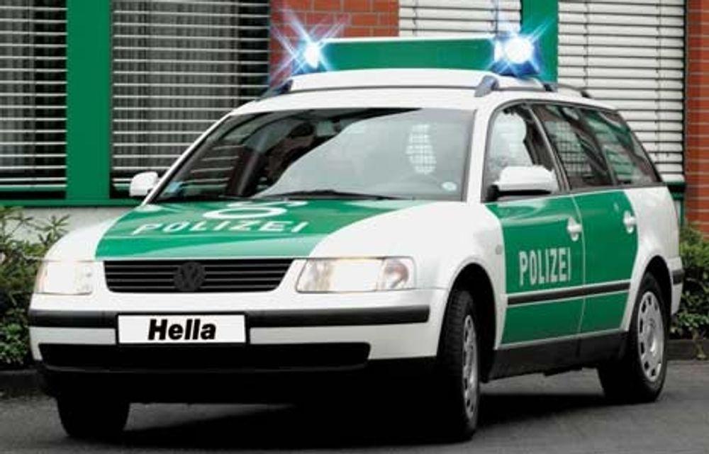 Politipassat, her i tysk versjon.