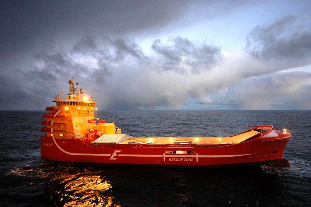 INNOVATIV: Rederiet Eidesvik er det mest innovative rederiet i Norge. De hadde det første forsyningsfartøyet på LNG, Viking Avant, som er avbildet, dannet en ny type forsyningsskip. Nå satser rederiet   for fullt mot breselcelledrift for skip.