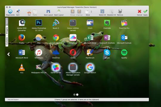 Launchpad Manager rydder opp på Mac-«hjemskjermen».