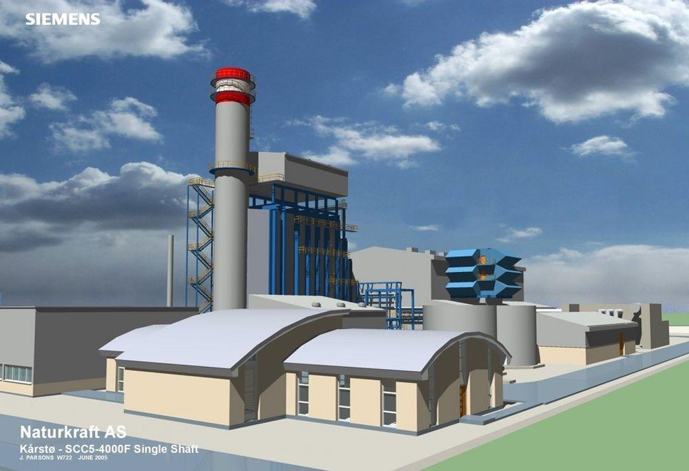 UTEN NOx: Det nye gasskraftverket på Kårstø får Europas første NOx-renseanlegg.ILL:Naturkraft