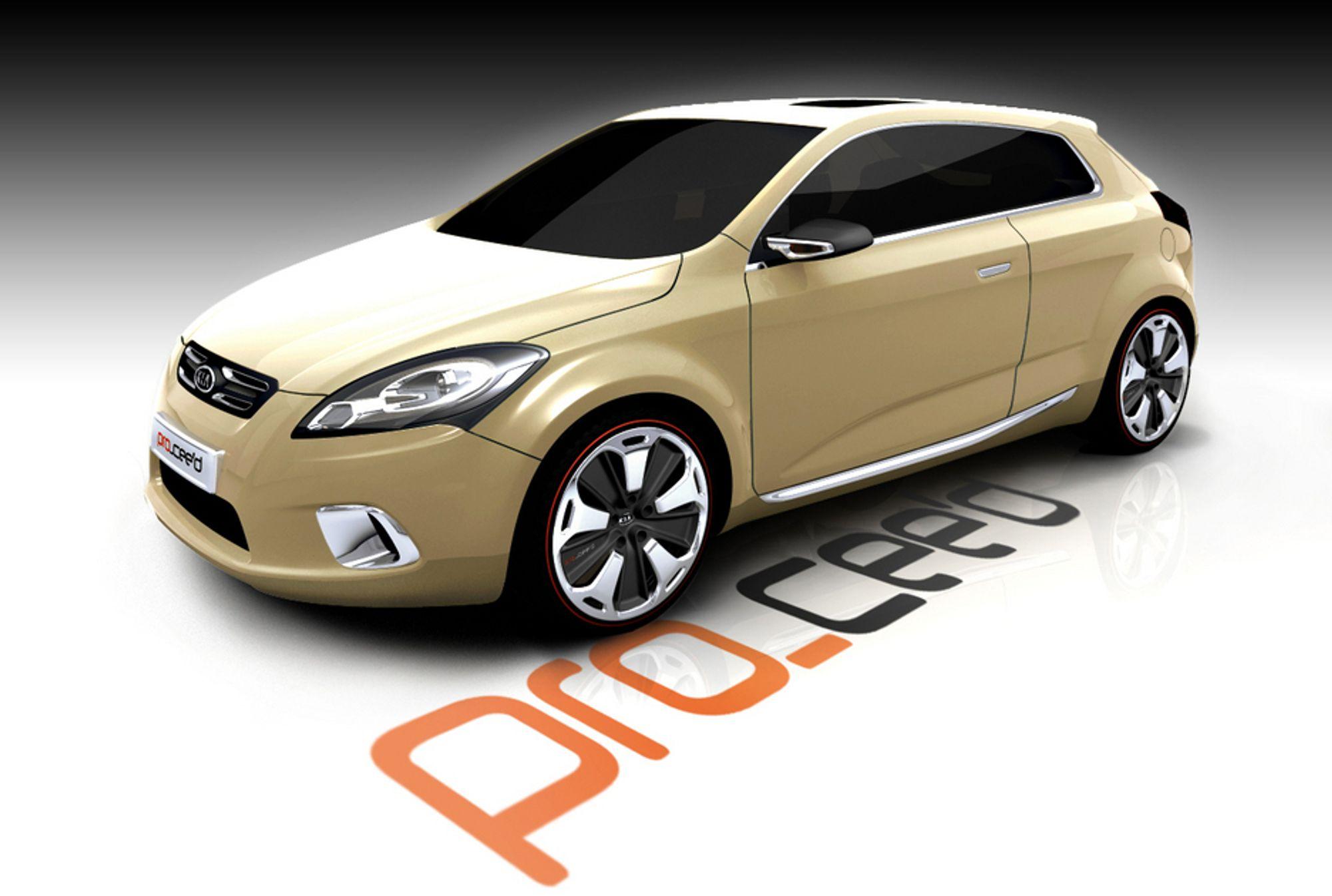KONSEPT: Har Kia latt seg overtale av markedsavdelingen i utformingen av pro_ceed? Bilen stilles ut i Paris denne uka.