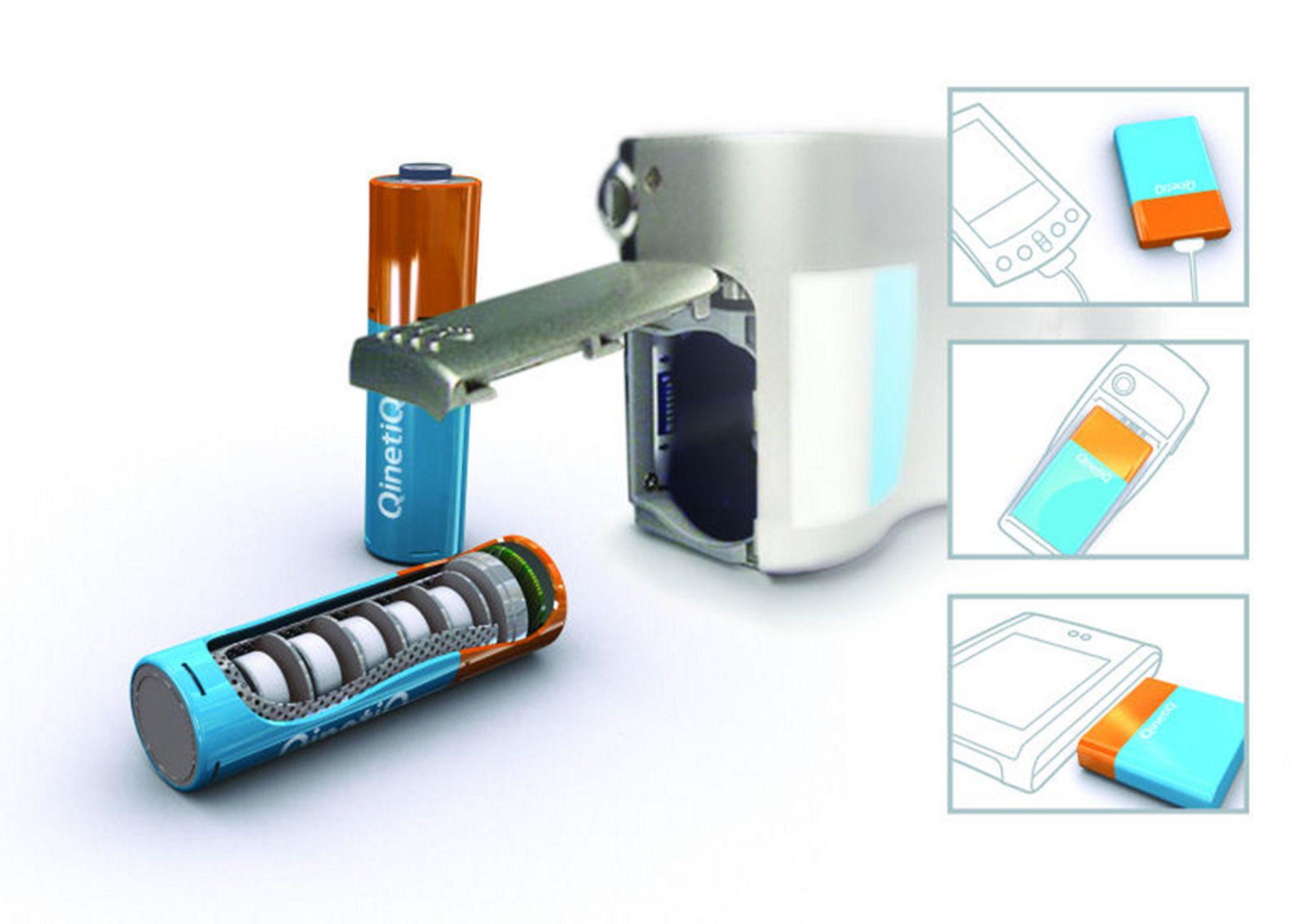 ALT I ETT: Hydrogentank, brenselcelle og f.eks. en mobiltelefon - en enkel og lett enhet med svært lang brukstid mellom hver fylling. Noe for fremtidens intense informasjonssamfunn, mener Olympus Corporation.