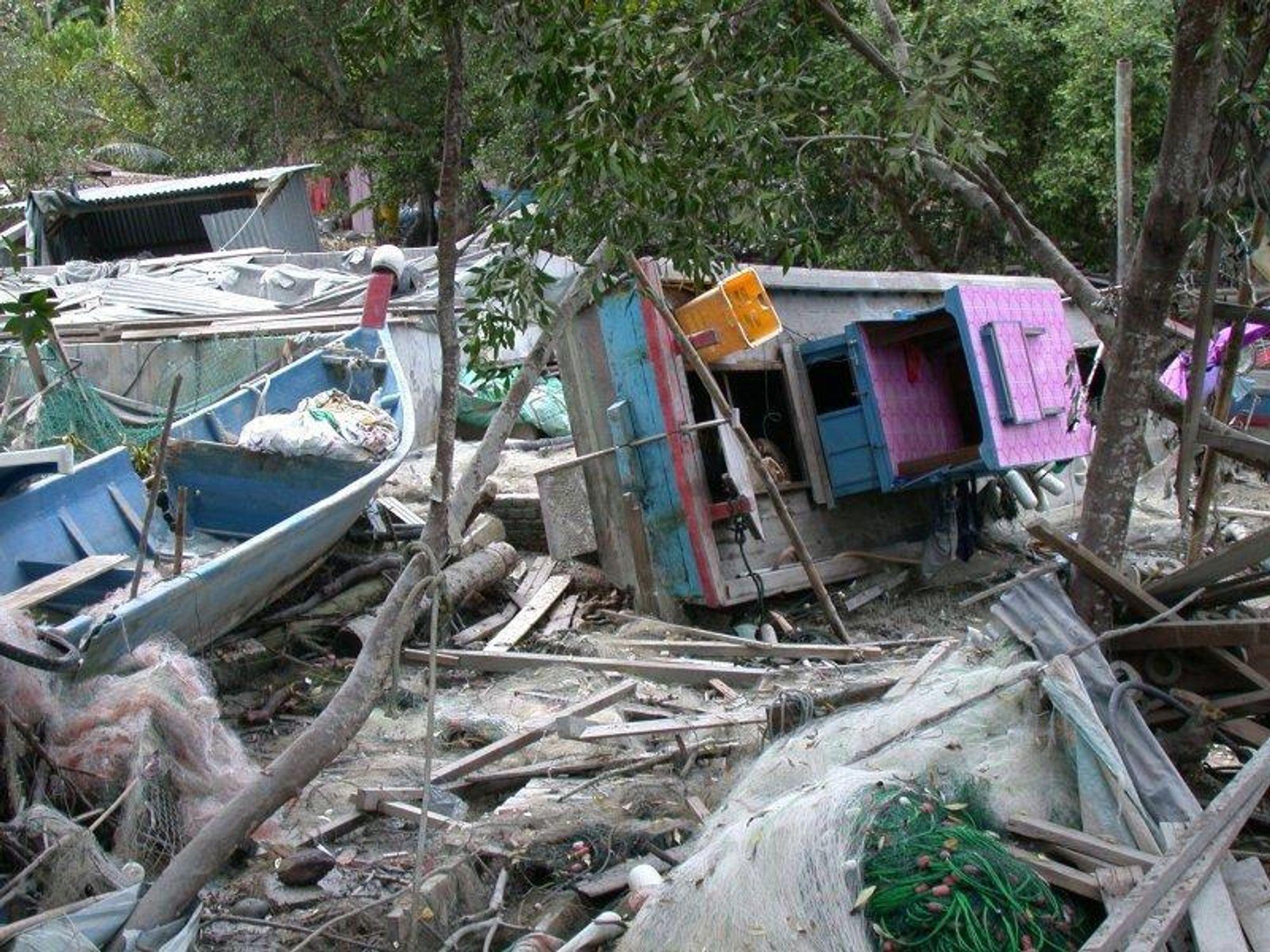 TSUNAMI: Pulau Betong ble rammet hardt av tsunamien julen 2004.