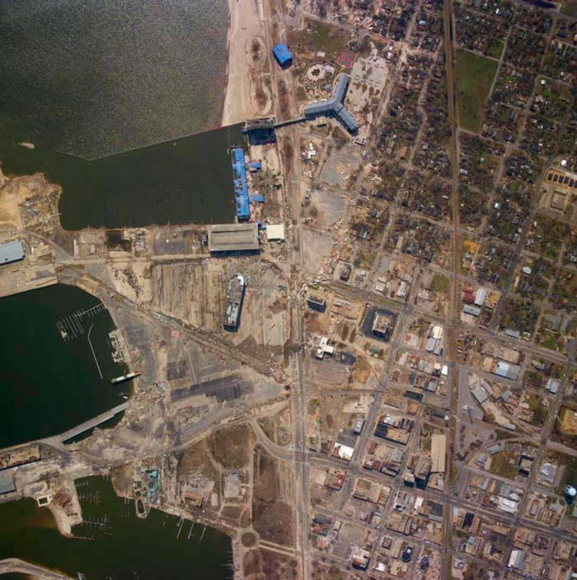 RAMMES FORTSATT: Gulfport i Mississippi ble rammet hardt av orkanen Katrina. Fortsatt er arsenikkonsentrasjonene her langt høyere enn det som er akseptabelt.