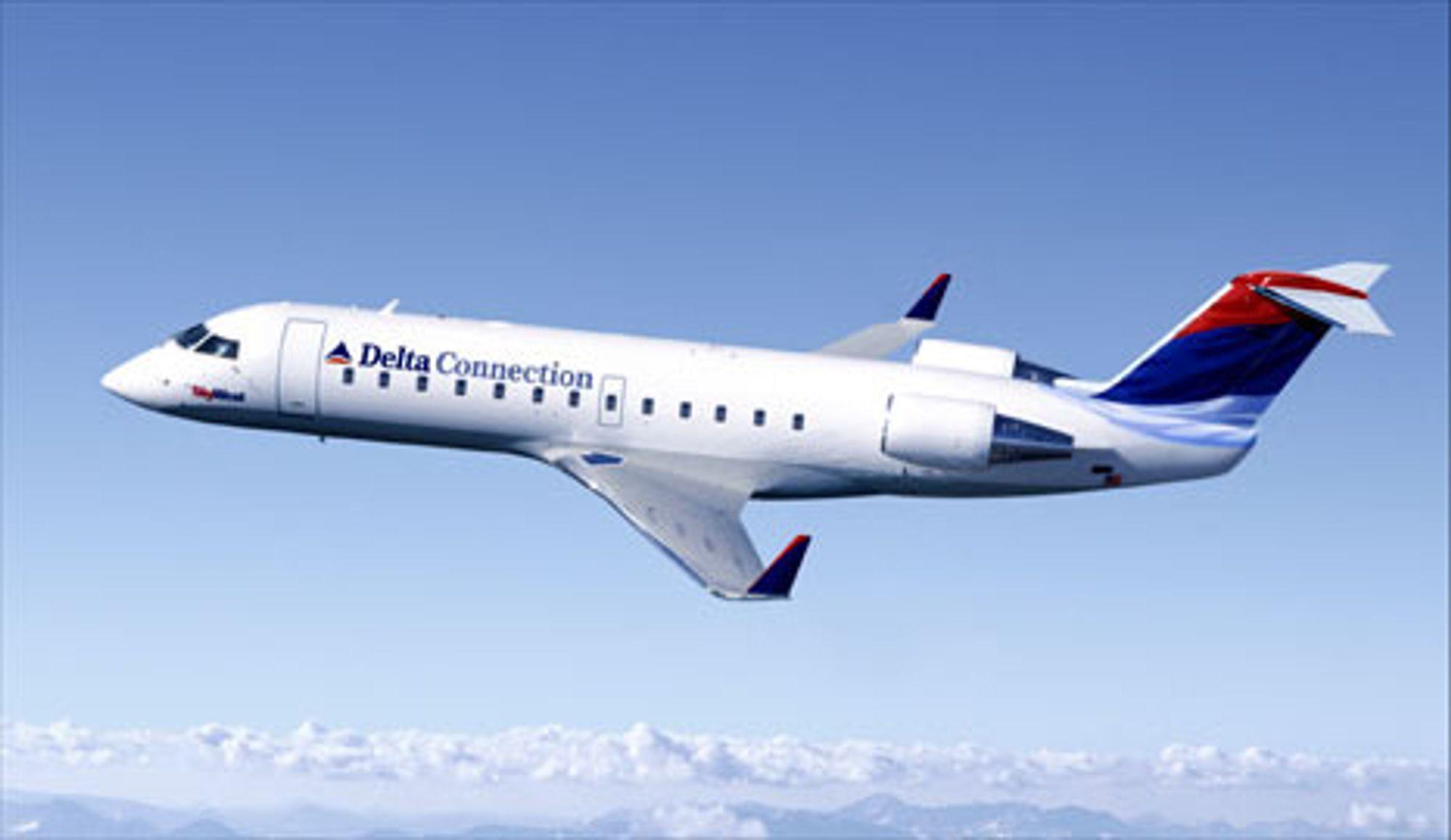 MELLOMDISTANSE: Det var et fly av denne type - en Bombardier (Canadair) CRJ-200 ¿ som styrtet natt til søndag i Kentucky. Flyet er mye brukt ac Deltas lokaltrafikkselskap Connections på korte og mellomdistanser, og er populært også i Europa.