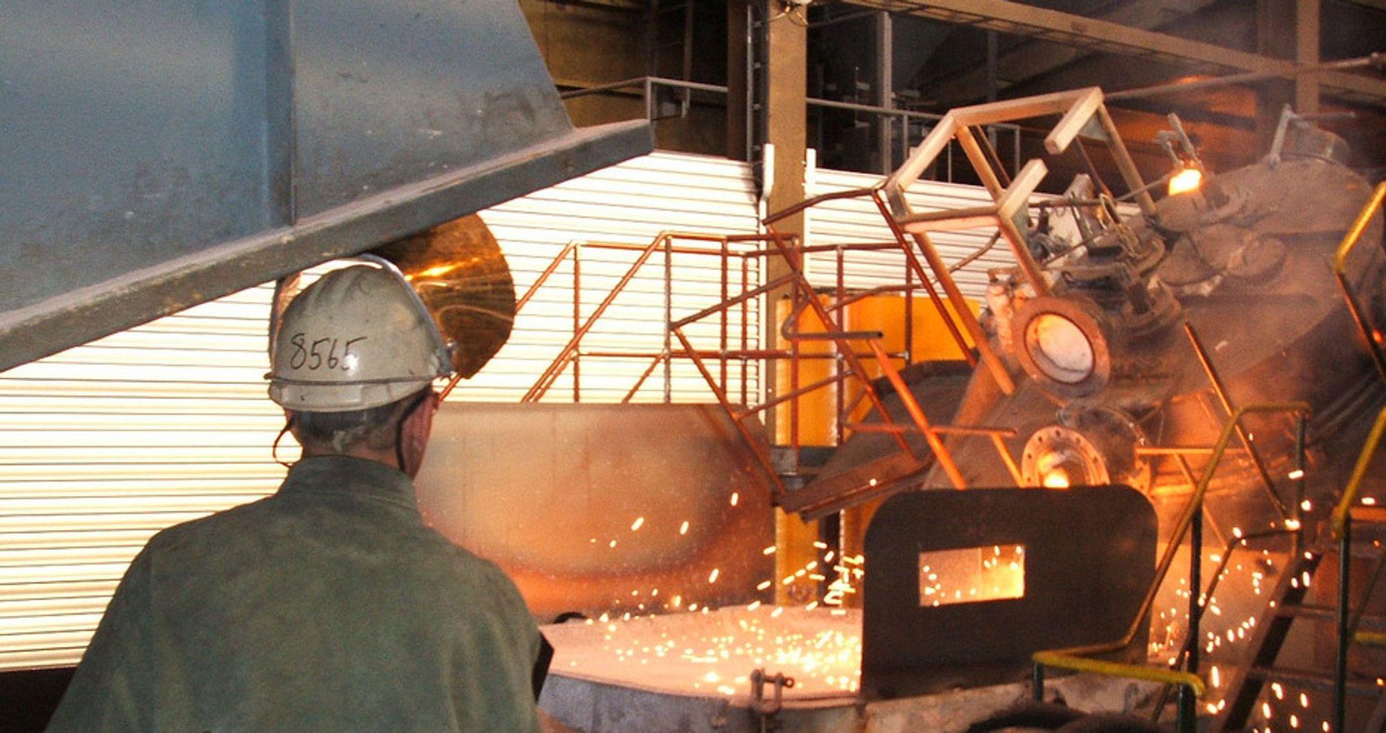 Tradisjonell industri, deriblant metallurgisk, går bedre og bedre.